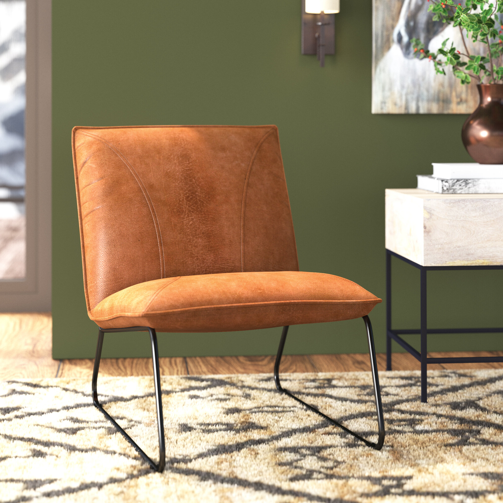 Broadus Genuine Leather Suede Side Chairs Inside Favorite Foundry Select Broadus (View 2 of 20)