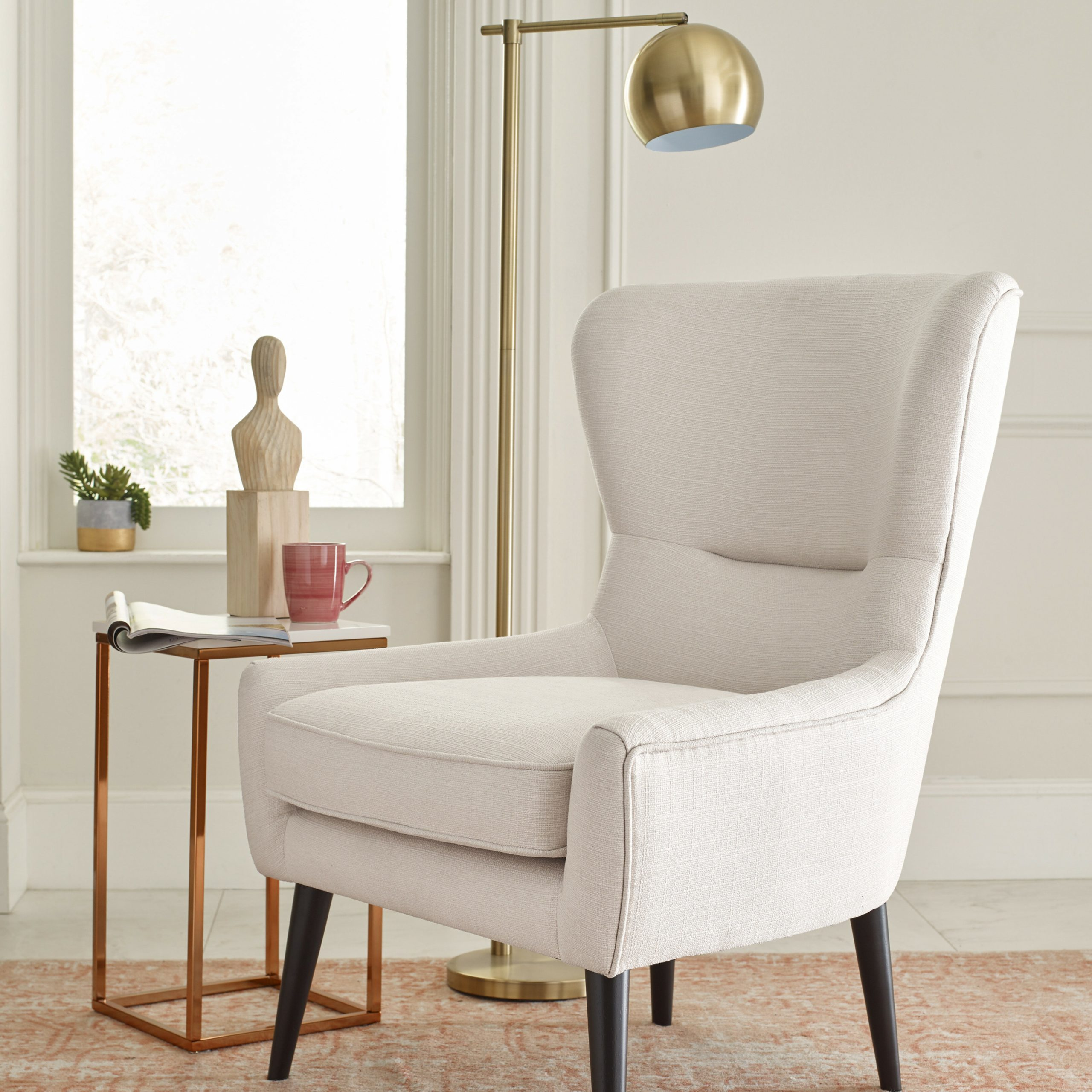 """Busti Wingback Chairs In Most Popular 29"""" W Faux Leather Wingback Chair (View 11 of 20)"""