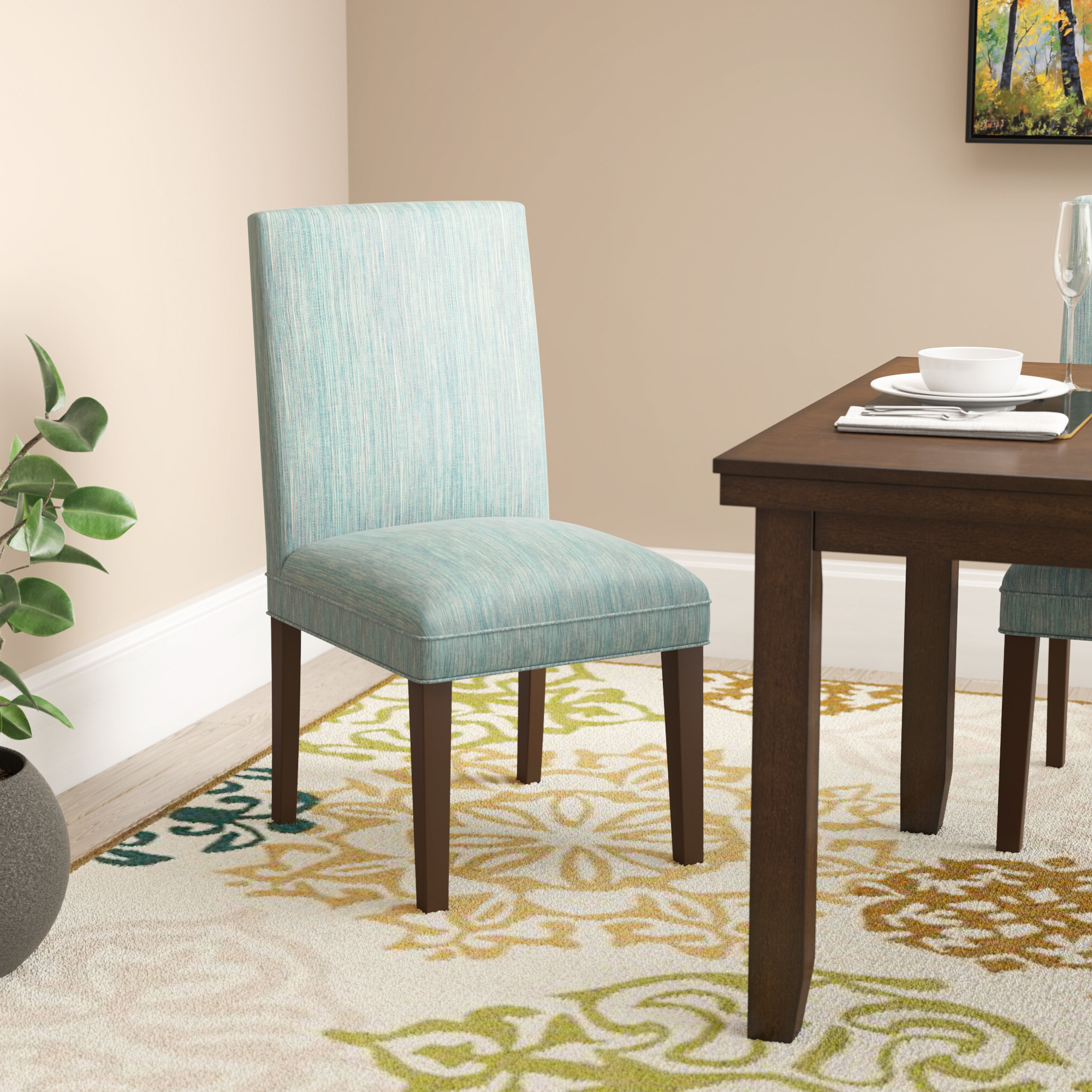 Calahan Parsons Upholstered Dining Chair Regarding Newest Aaliyah Parsons Chairs (View 8 of 20)