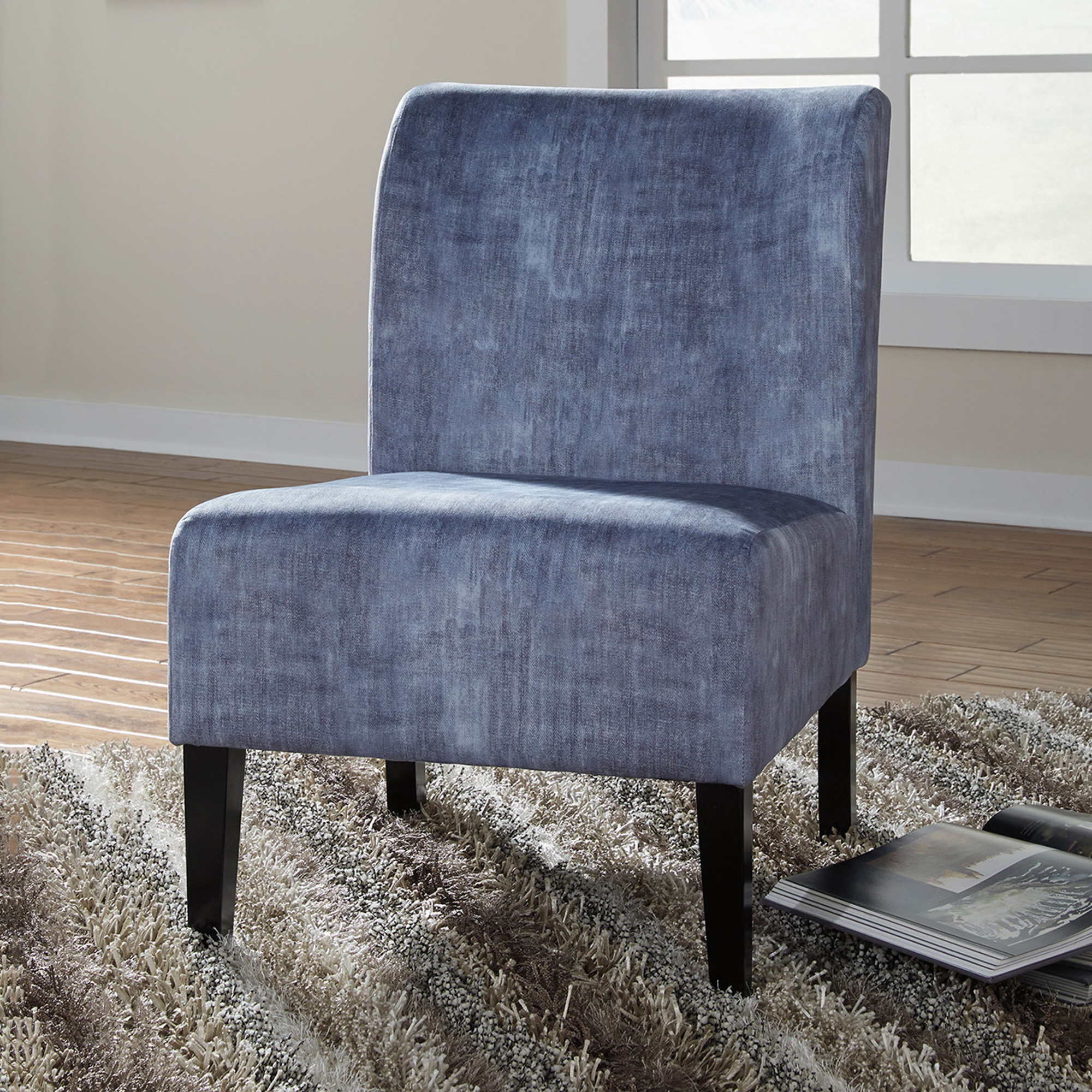 Caldwell Armchairs Within Most Up To Date Washed Denim Caldwell Accent Chair (View 5 of 20)