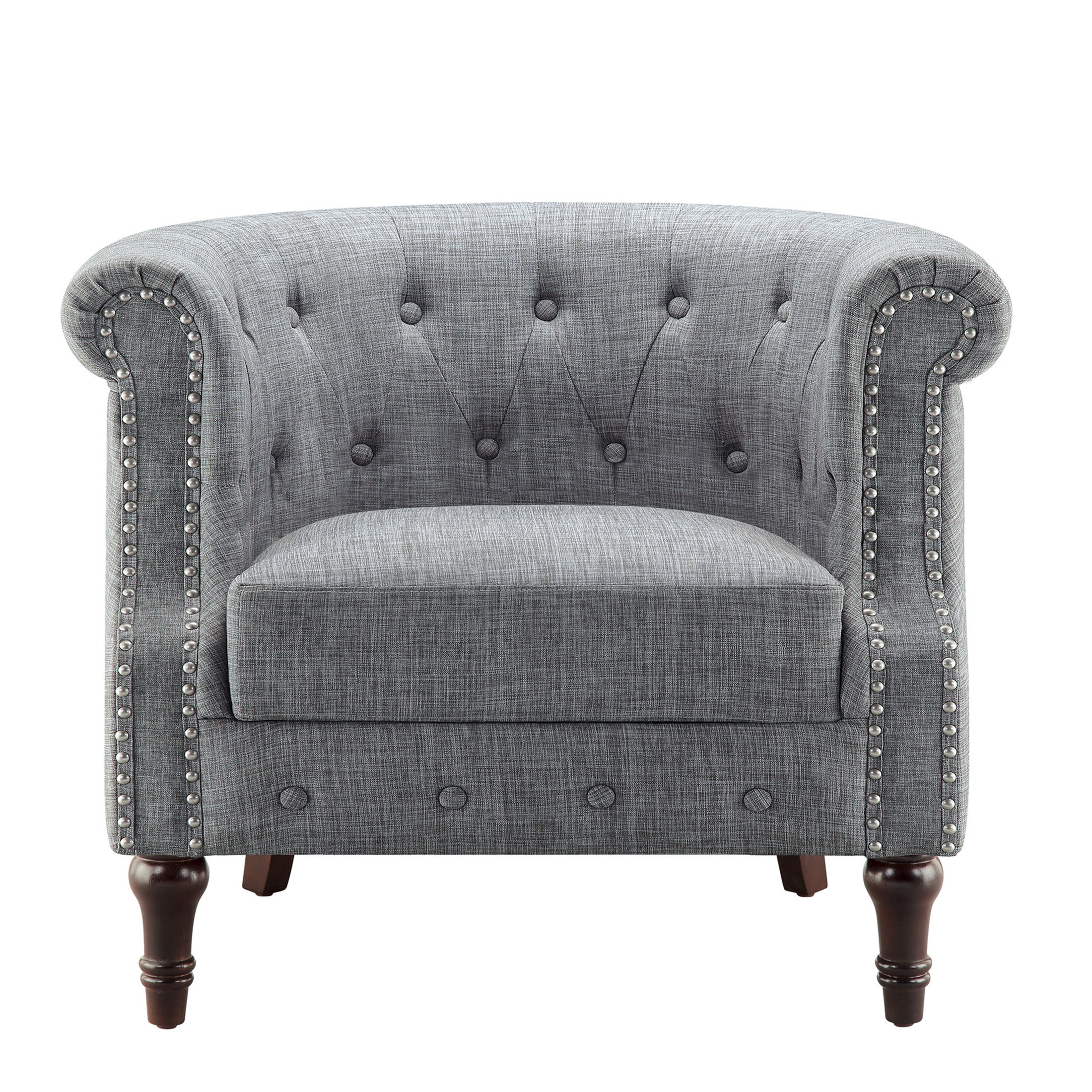 Chesterfield Espresso Wood Accent Chairs You'll Love In 2021 In Well Known Kjellfrid Chesterfield Chairs (View 9 of 20)