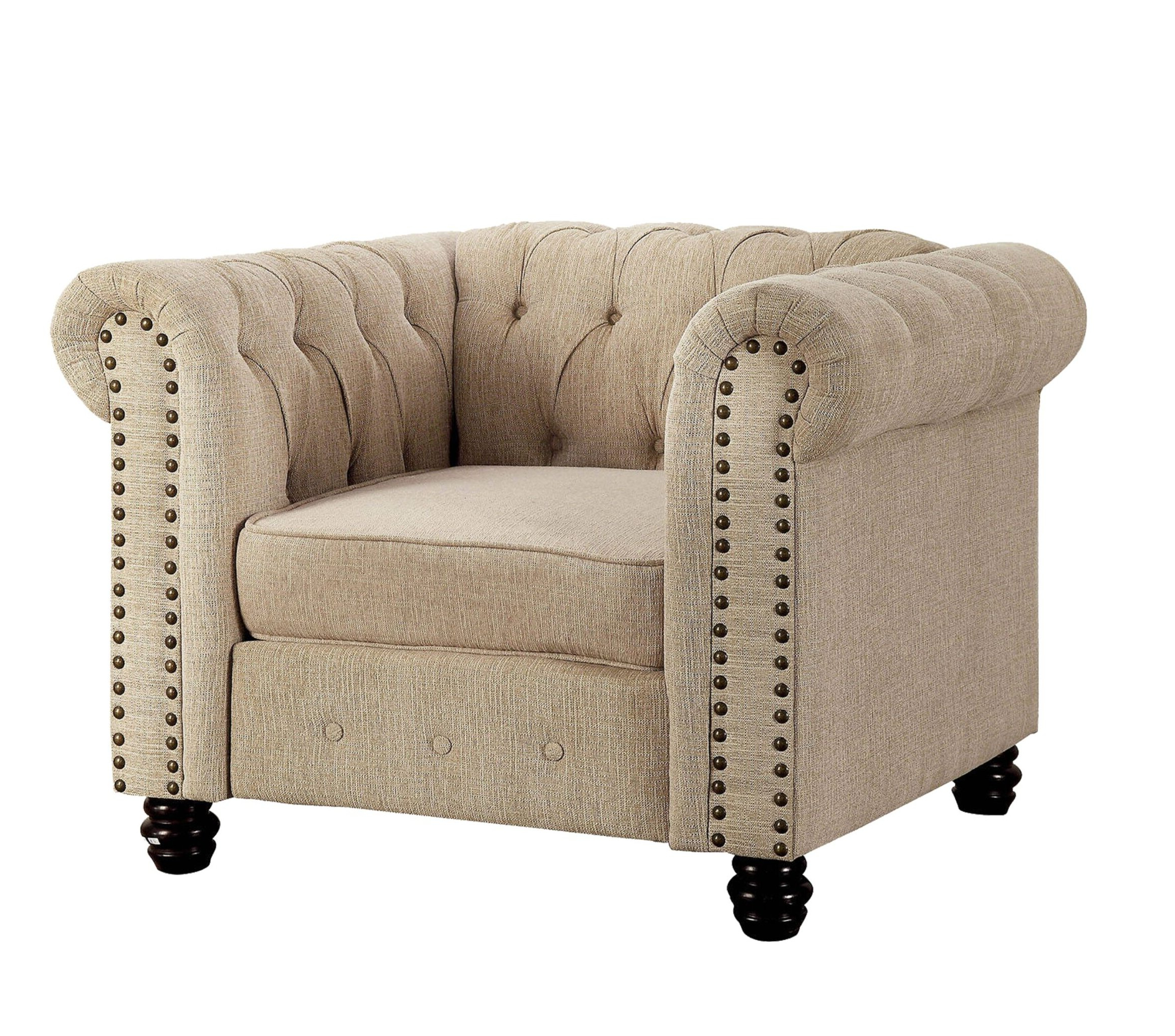 Chesterfield Espresso Wood Accent Chairs You'll Love In 2021 Within Most Popular Kjellfrid Chesterfield Chairs (View 11 of 20)