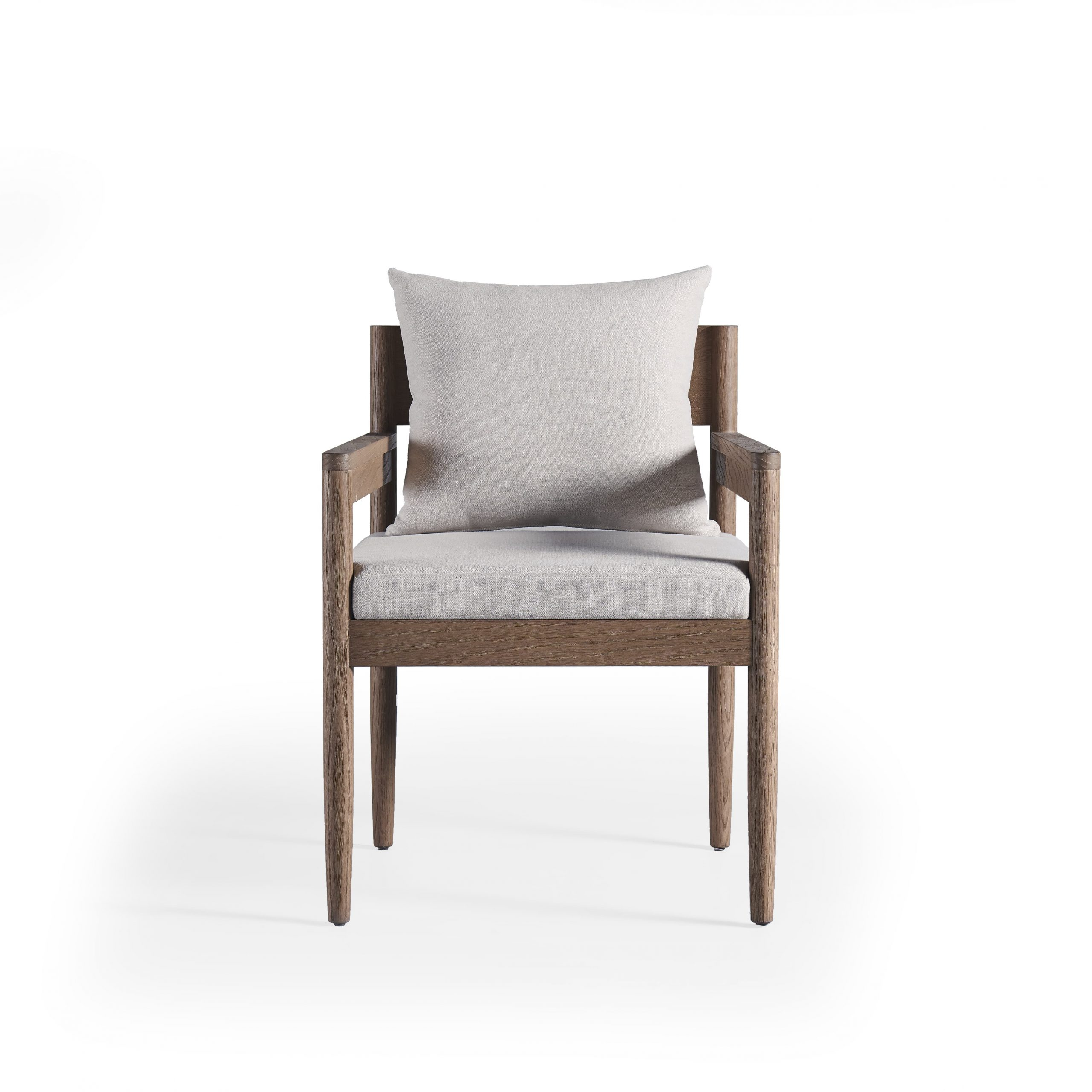 Chiles Linen Side Chairs With 2019 Balmain Square Back Dining Chair (clearance) – Outdoor (View 14 of 20)