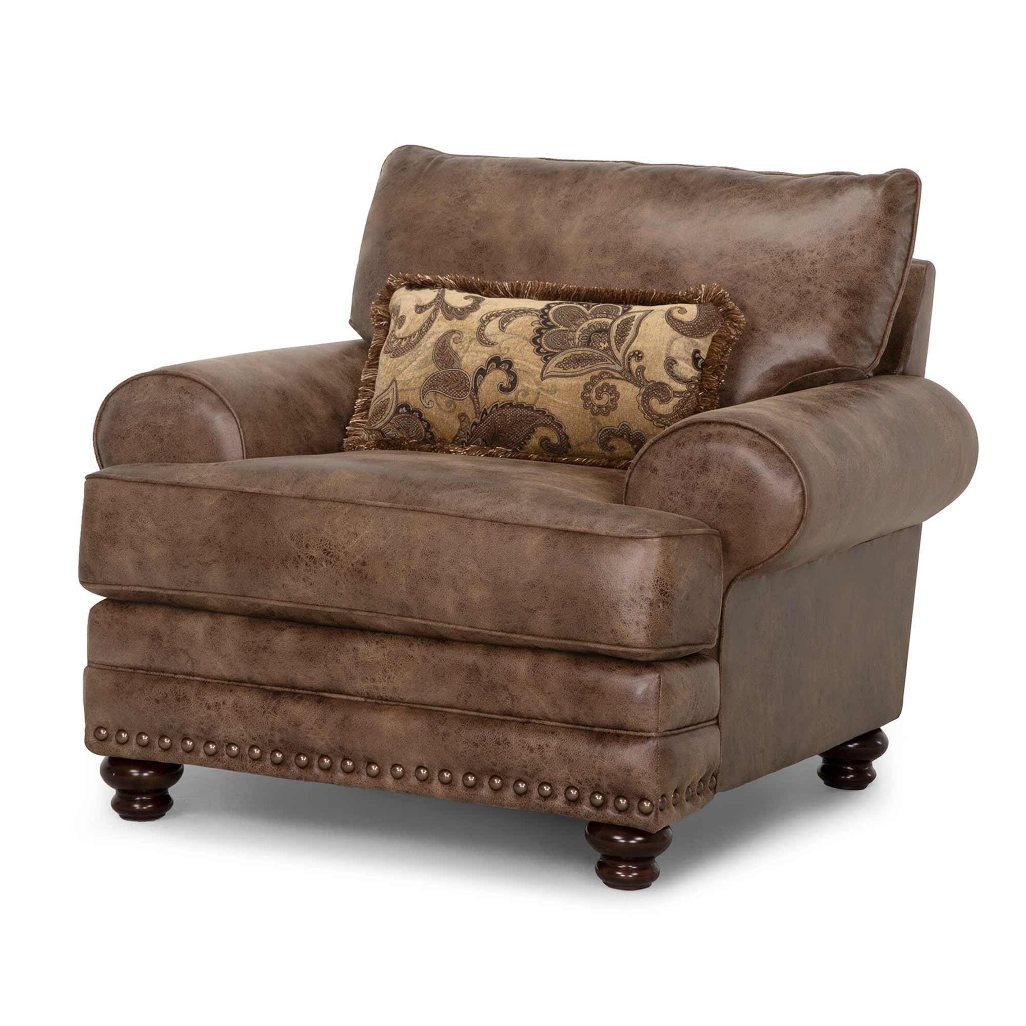 """Claremore 48"""" W Faux Leather Club Chair For Famous Asbury Club Chairs (View 8 of 20)"""