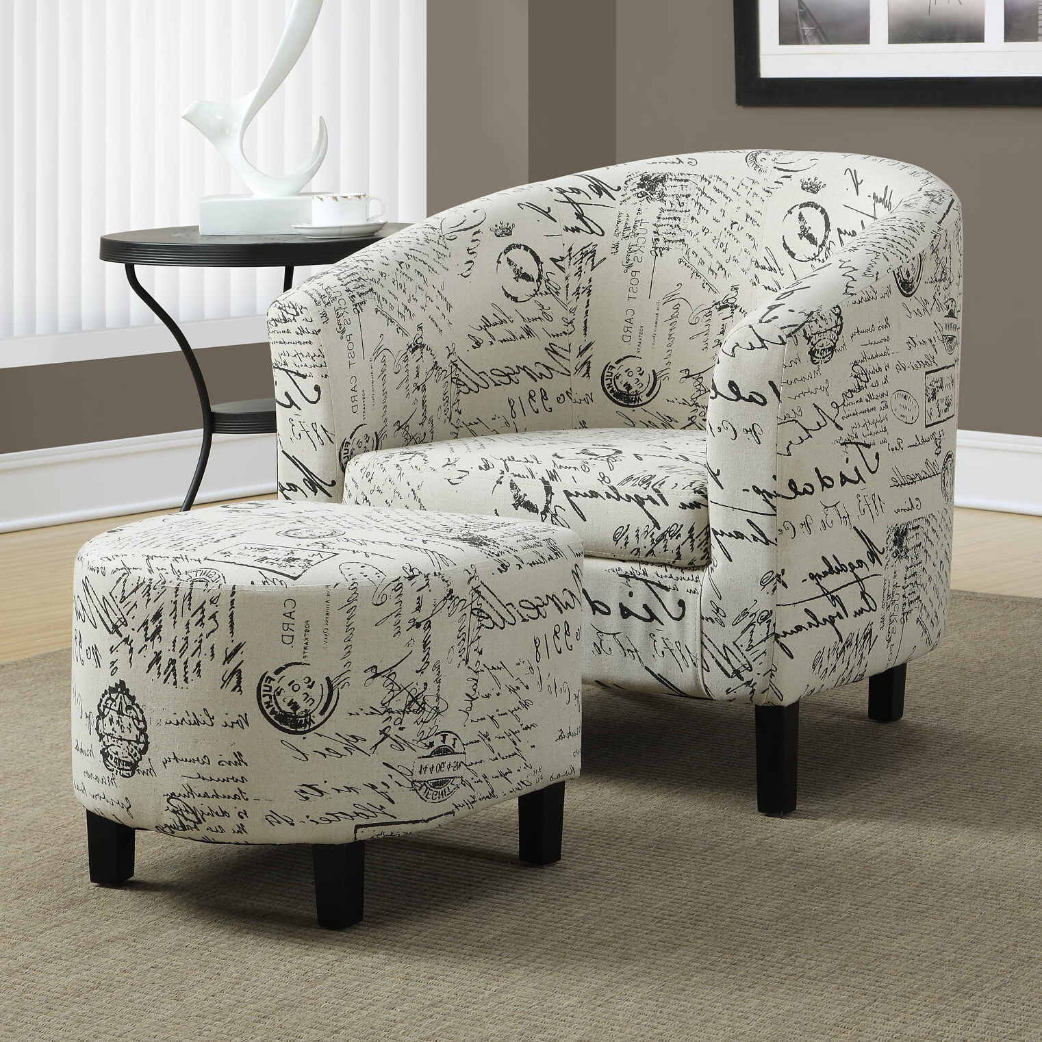 Claris Barrel Chair And Ottoman With 2020 Bronaugh Barrel Chairs (View 15 of 20)