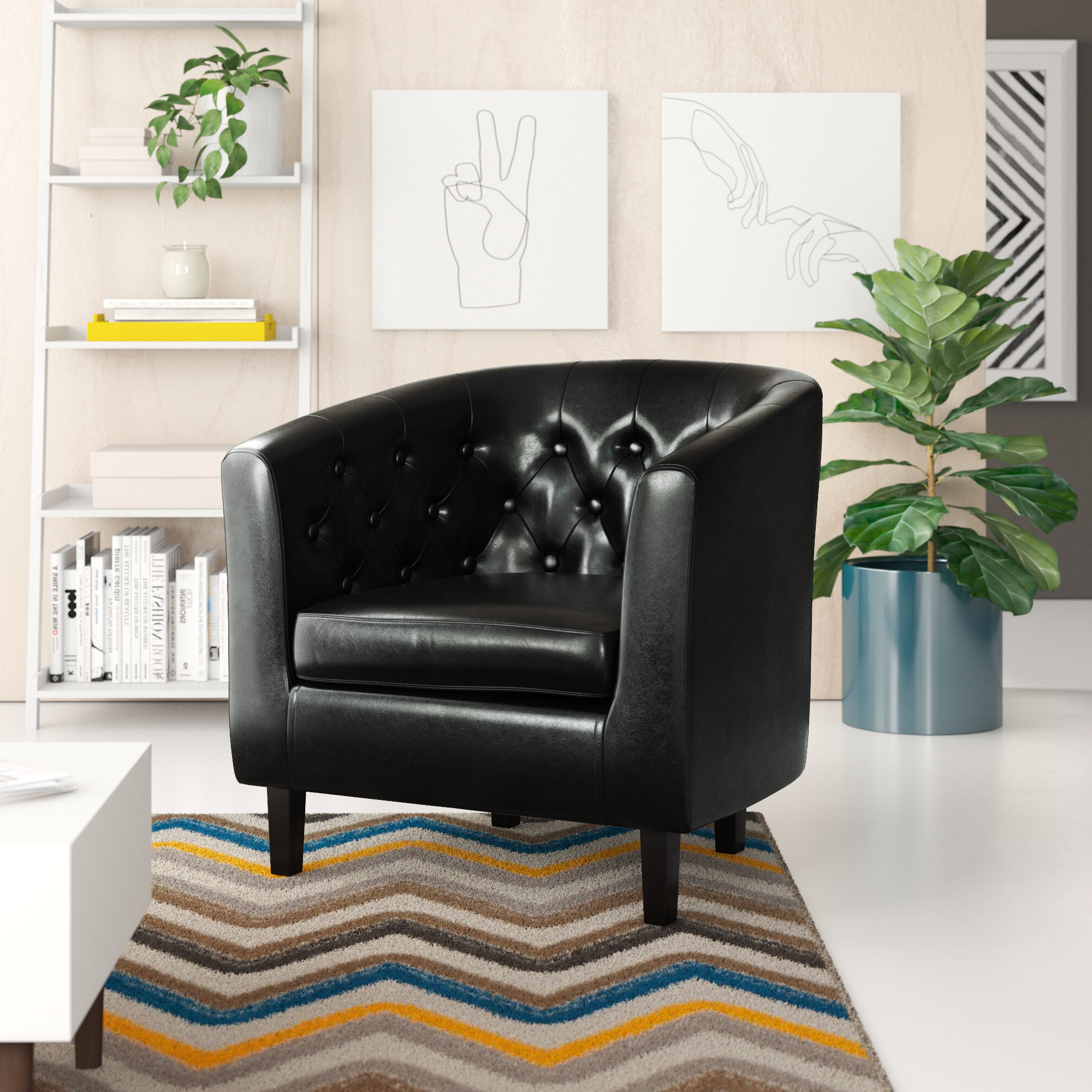 Claudel Polyester Blend Barrel Chairs For Well Known Barrel Mid Century Modern Accent Chairs You'll Love In (View 9 of 20)