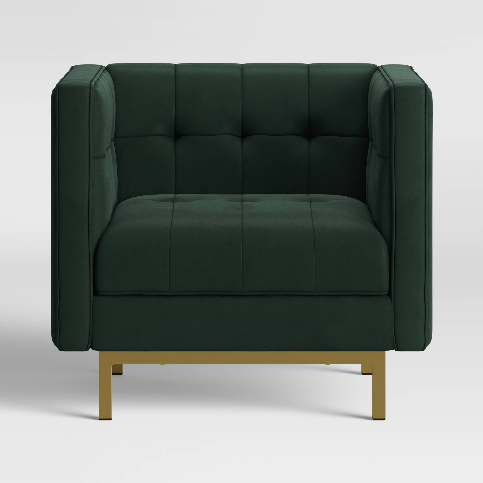 Cologne Tufted Track Arm Chair Emerald Green – Project 62 – Target For Best And Newest Allis Tufted Polyester Blend Wingback Chairs (View 16 of 20)