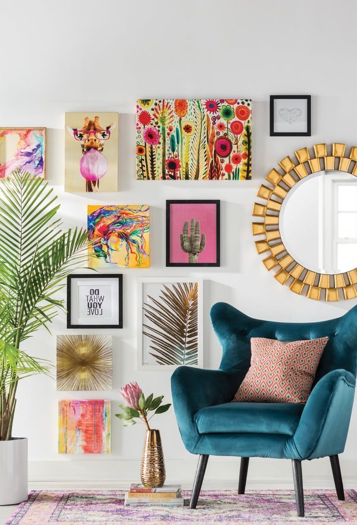 Colourful Living Room Decor, Living With Regard To Newest Bouck Wingback Chairs (View 4 of 20)