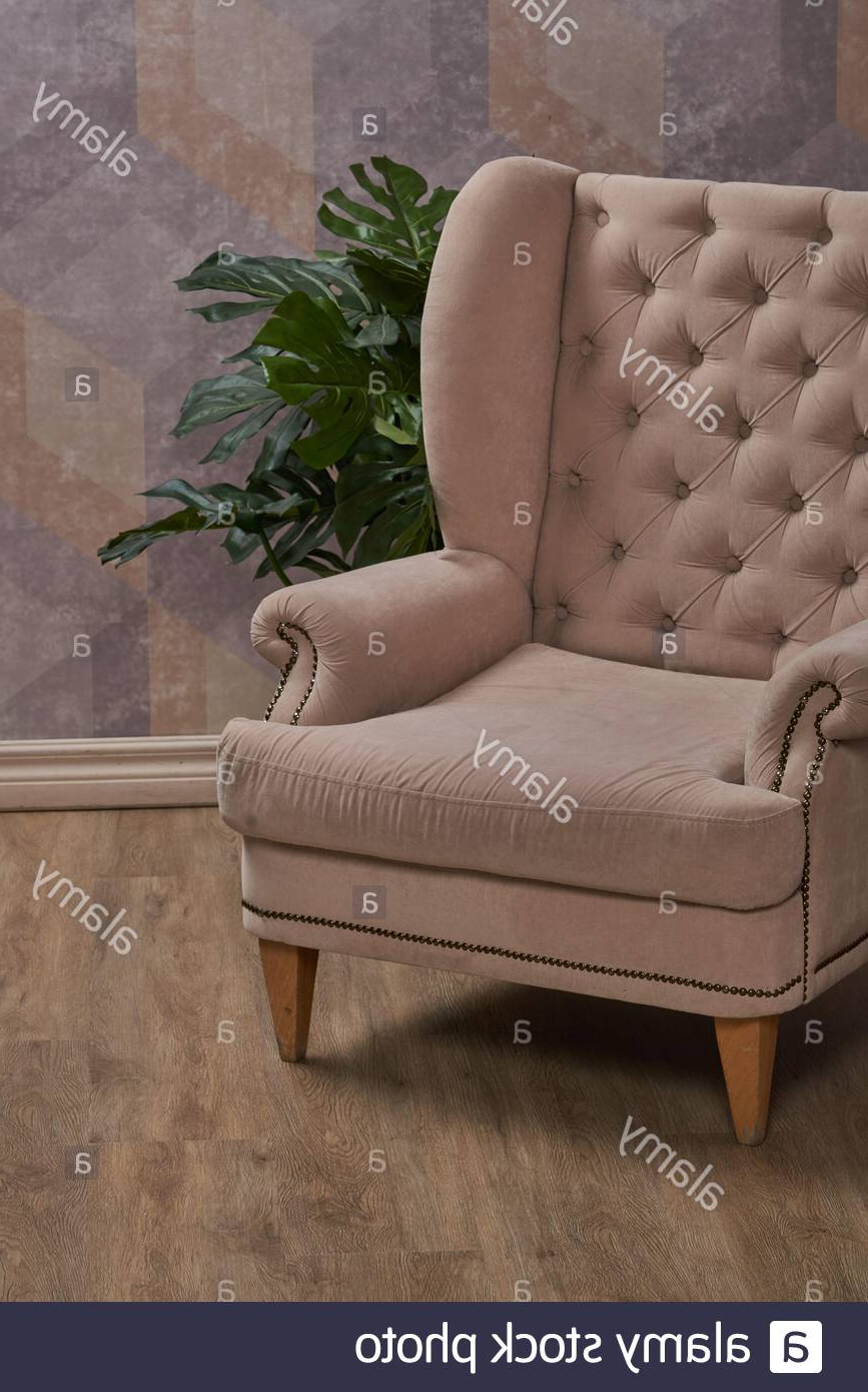 Comfortable Arm Chair In Interior Living Room With Pastel Inside Well Known Live It Cozy Armchairs (View 20 of 20)