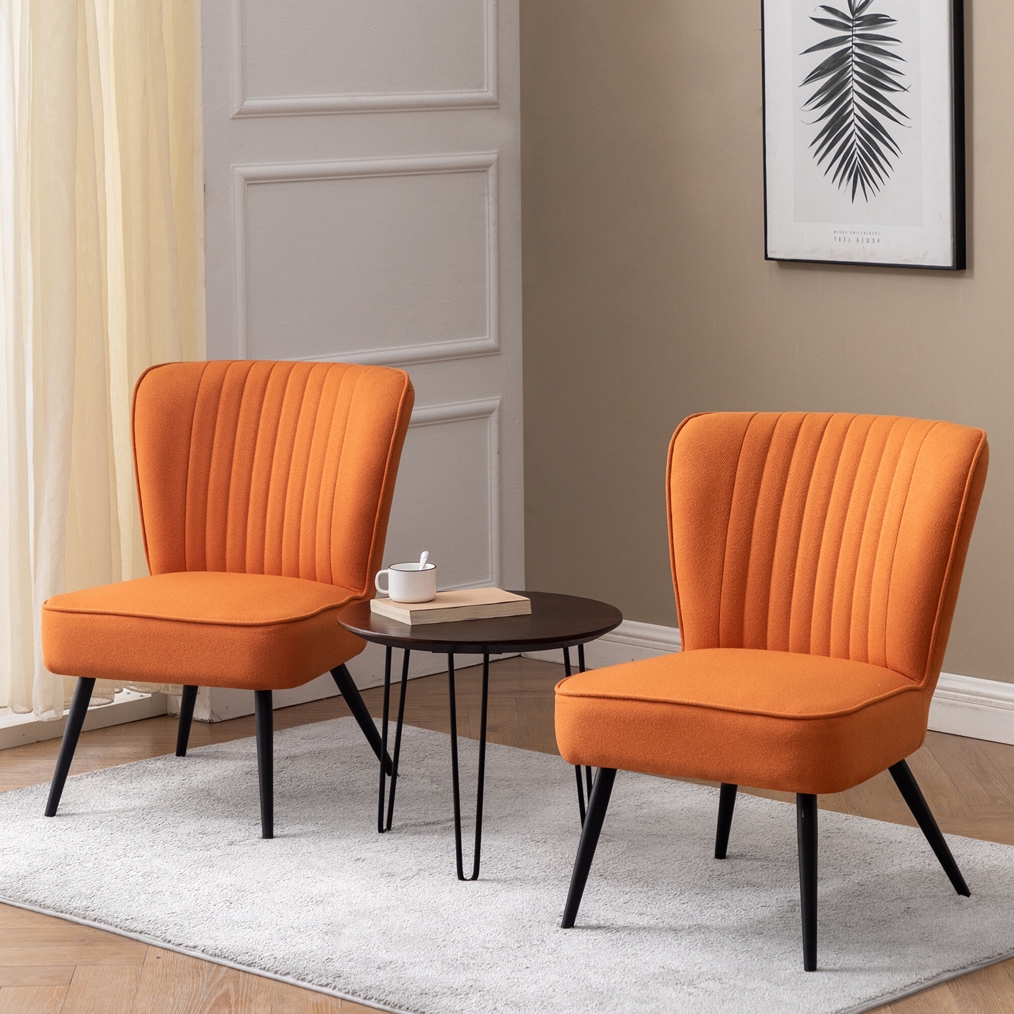 Commercial Use Orange Small Accent Chairs You'll Love In Throughout Latest Artressia Barrel Chairs (View 11 of 20)