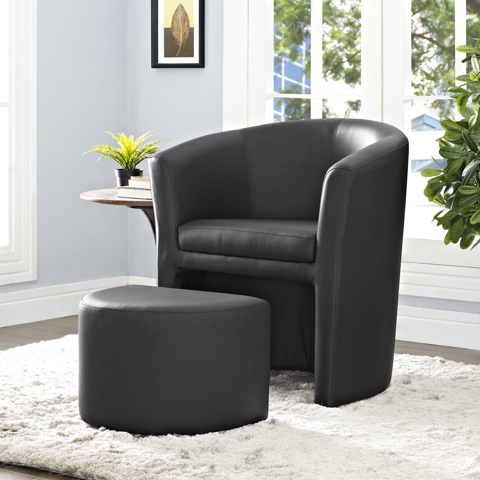 Contemporary & Modern Inside Modern Armchairs And Ottoman (View 18 of 20)