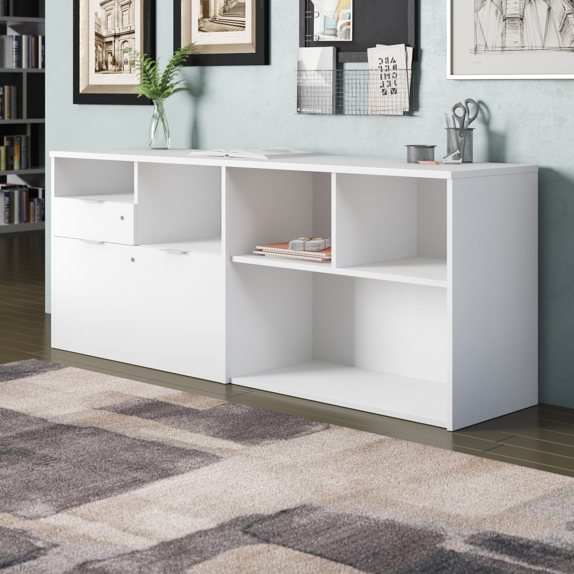 Credenza Locking Office Storage Cabinets You'll Love In 2021 Throughout Well Known Akimitsu Barrel Chair And Ottoman Sets (View 19 of 20)