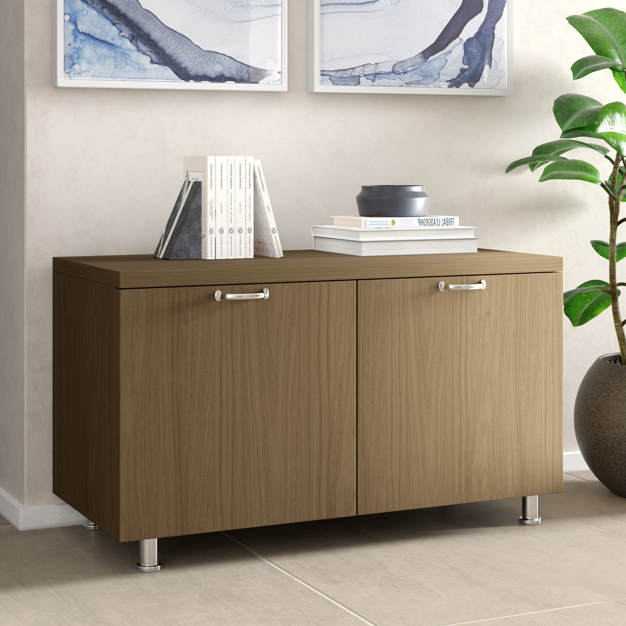 Credenza Modern & Contemporary Office Storage Cabinets You In Widely Used Akimitsu Barrel Chair And Ottoman Sets (View 18 of 20)