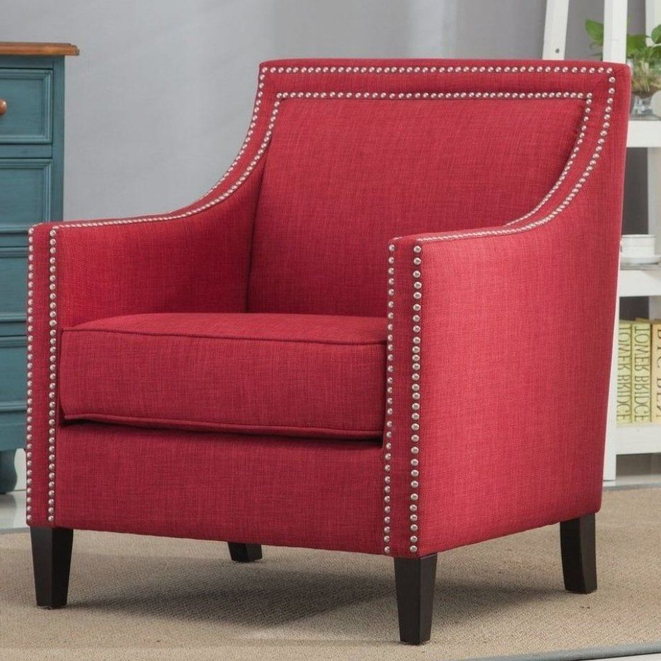 Current Borst Armchairs Inside Bring Home The Chic Style Of The Birkenfeld Red Accent Chair (View 17 of 20)
