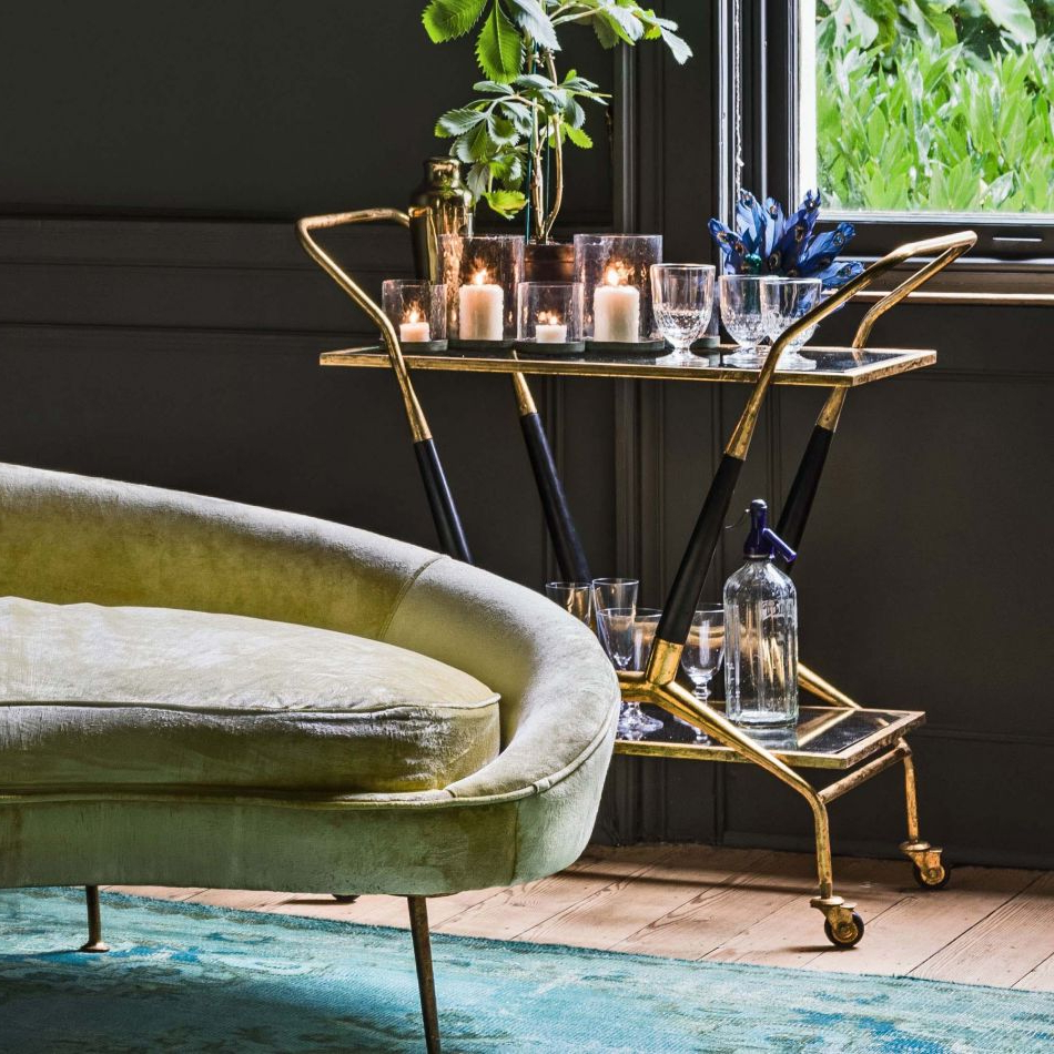 Current Caldwell Armchairs With Regard To Caldwell Gold Drinks Trolley (View 17 of 20)