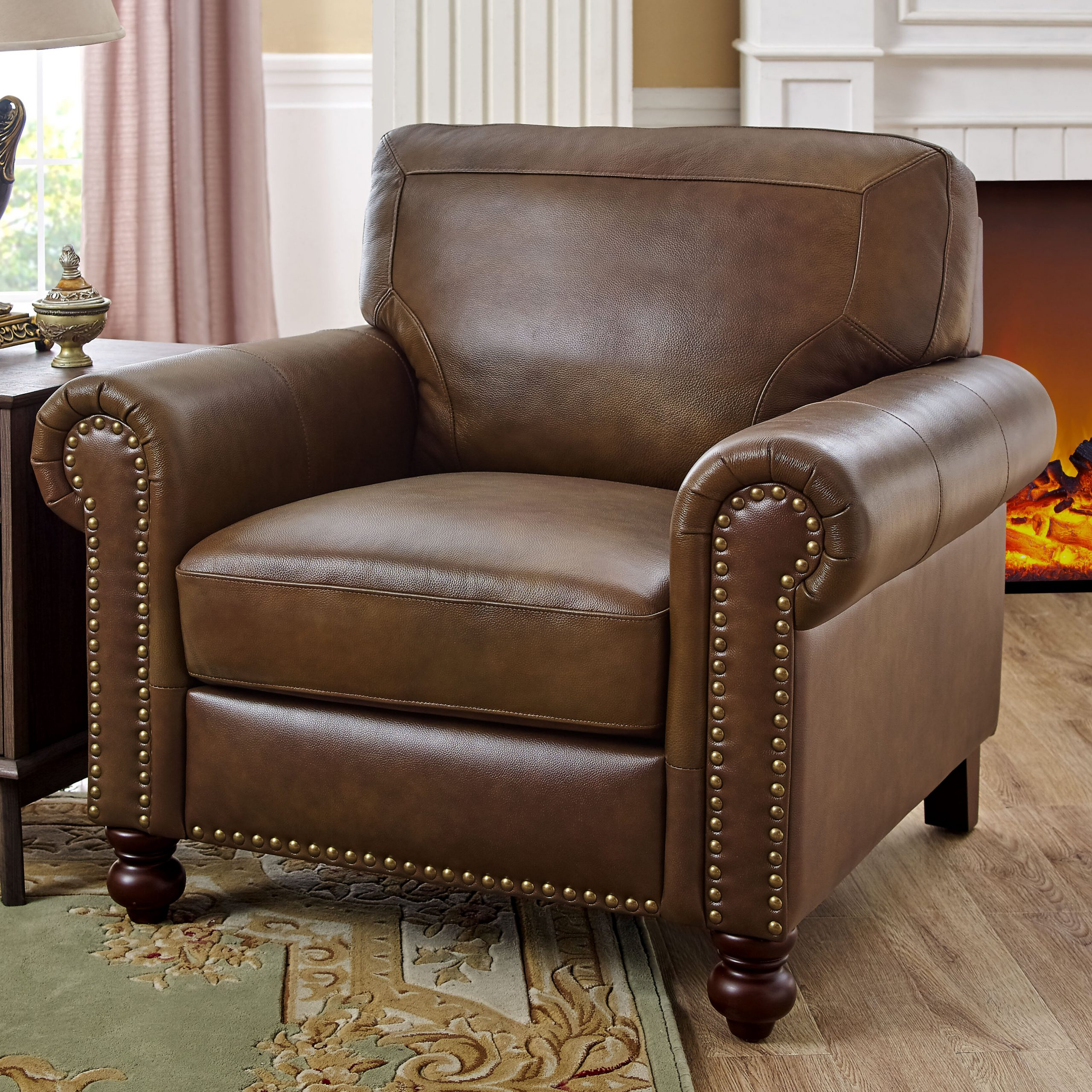 """Current Cohutta Armchairs With Garr 41"""" W Leather Match Armchair (View 4 of 20)"""