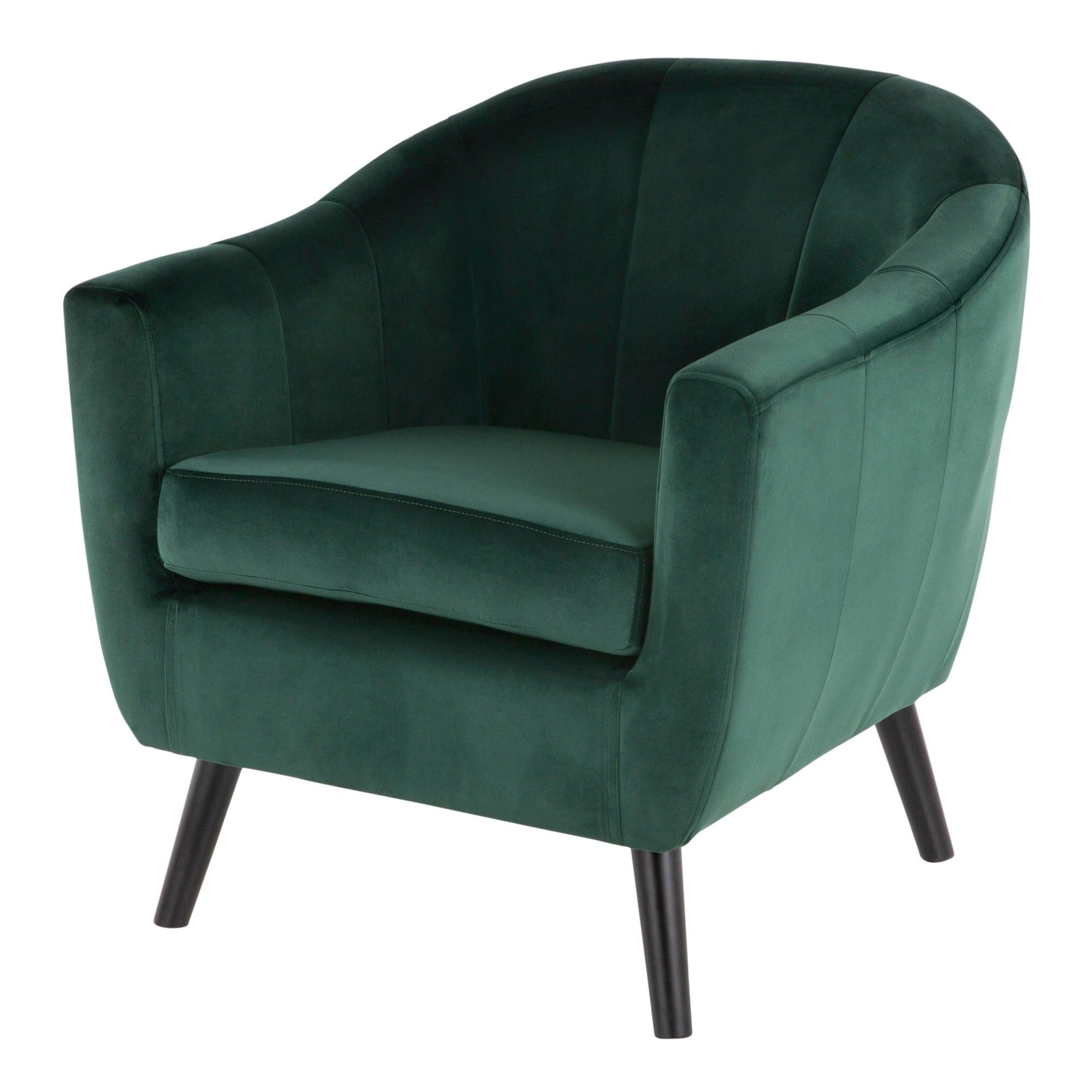 Current Easterling Velvet Slipper Chairs Throughout Rockwell Contemporary Velvet Accent Chair Green – Lumisource (View 4 of 20)