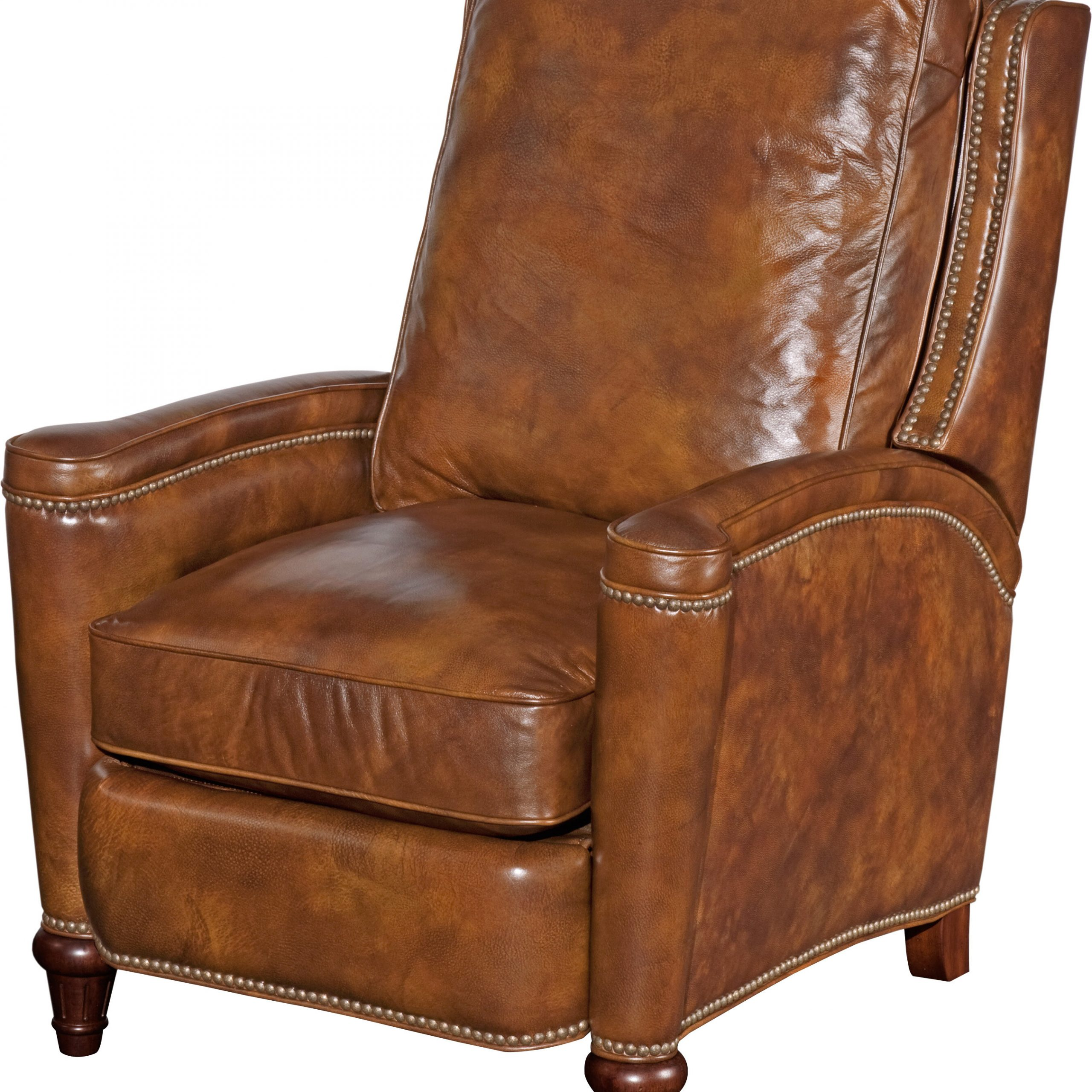 Current Leather Manual Recliner Throughout Coomer Faux Leather Barrel Chairs (View 8 of 20)