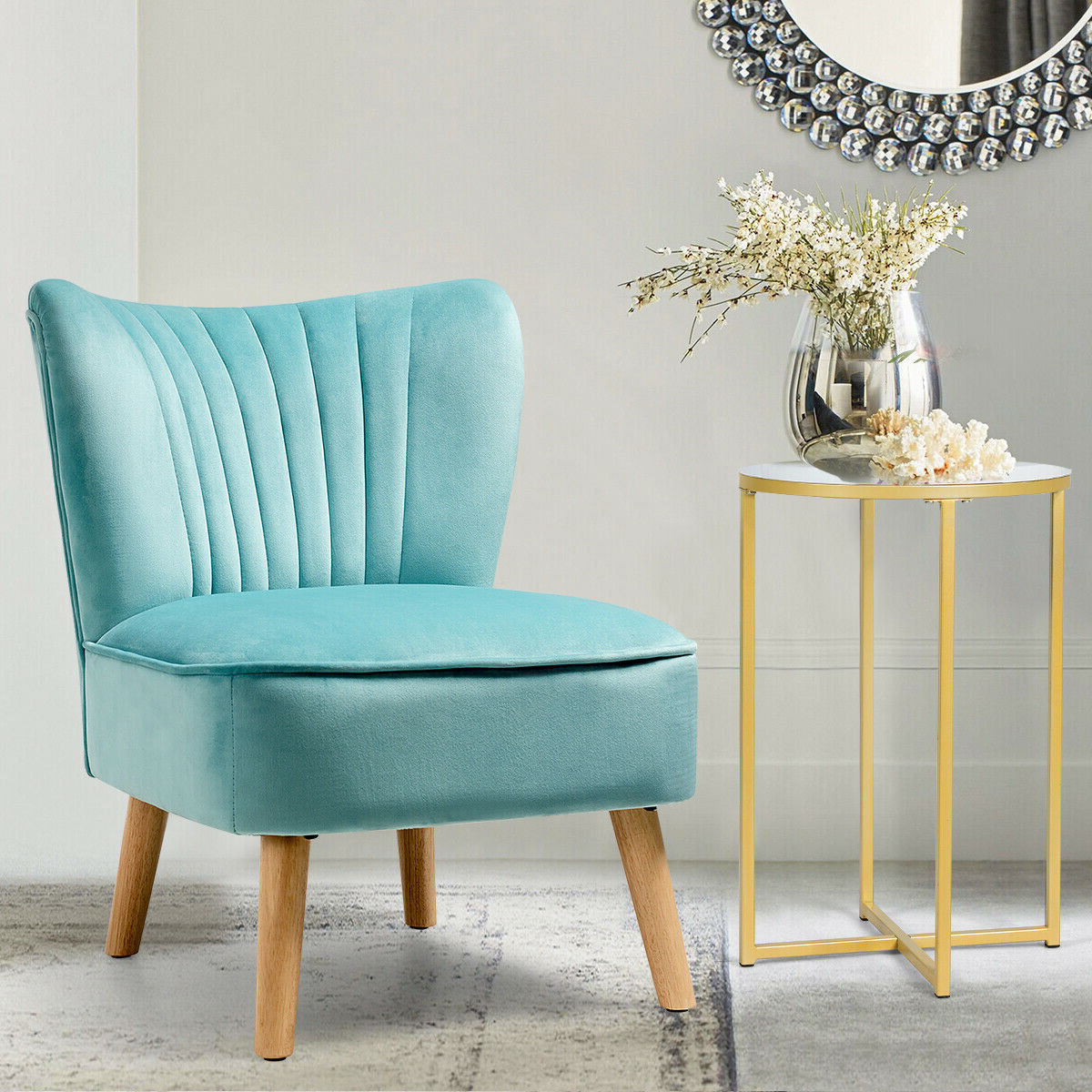 Current Modern & Contemporary Slipper Accent Chairs You'll Love In For Alush Accent Slipper Chairs (set Of 2) (View 8 of 20)