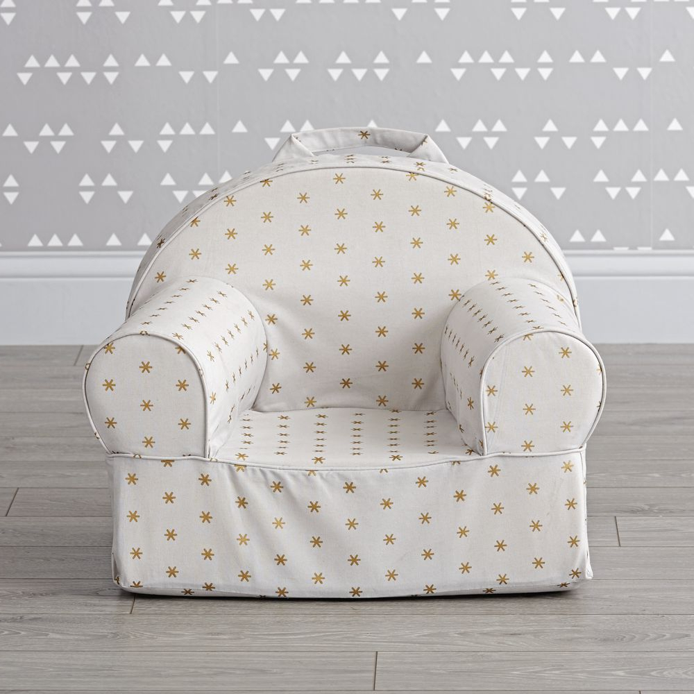Current Small Gold Sparkle Nod Chair – Crate And Barrel Inside Aniruddha Slipper Chairs (View 10 of 20)