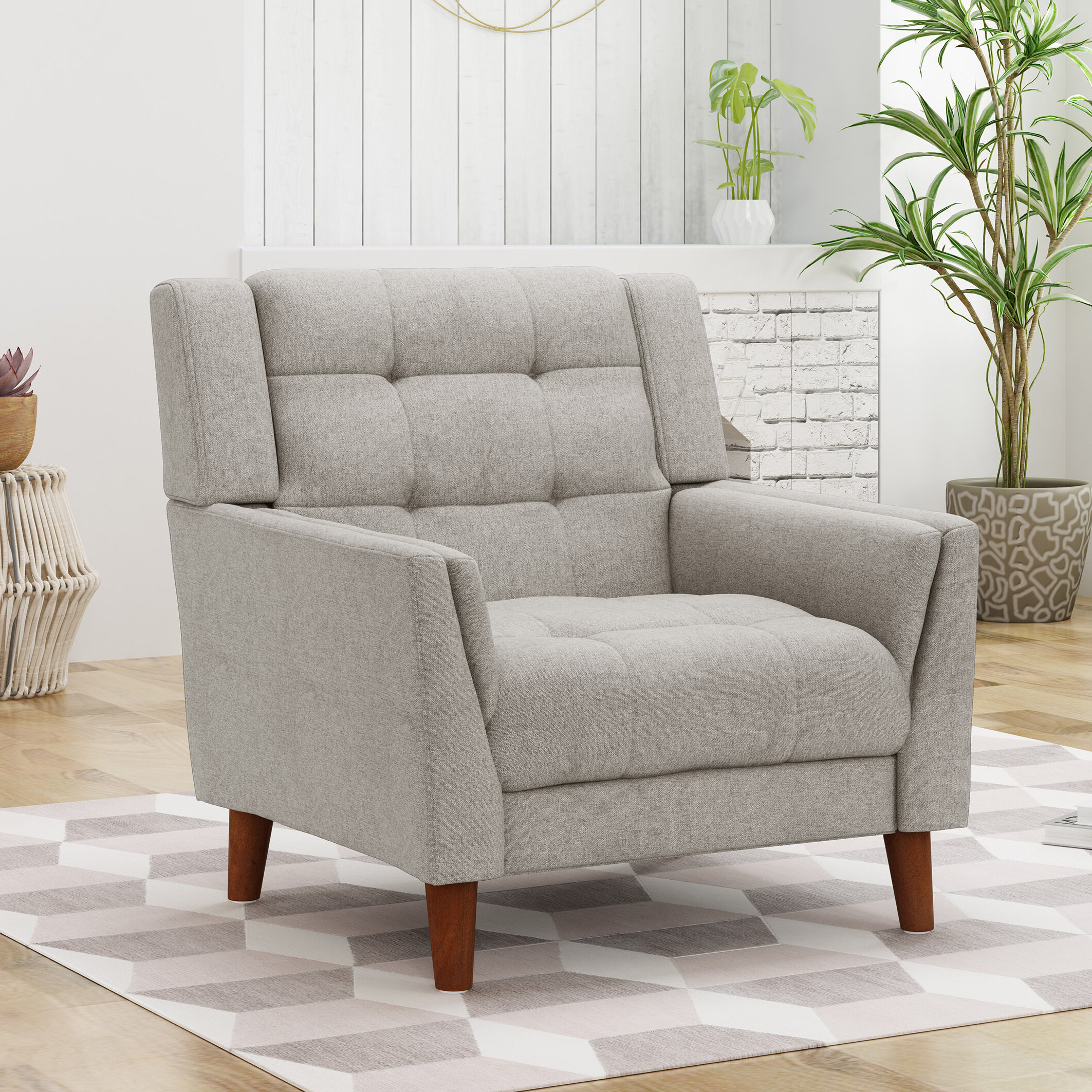 Current Ulises Armchair Intended For Belz Tufted Polyester Armchairs (View 20 of 20)