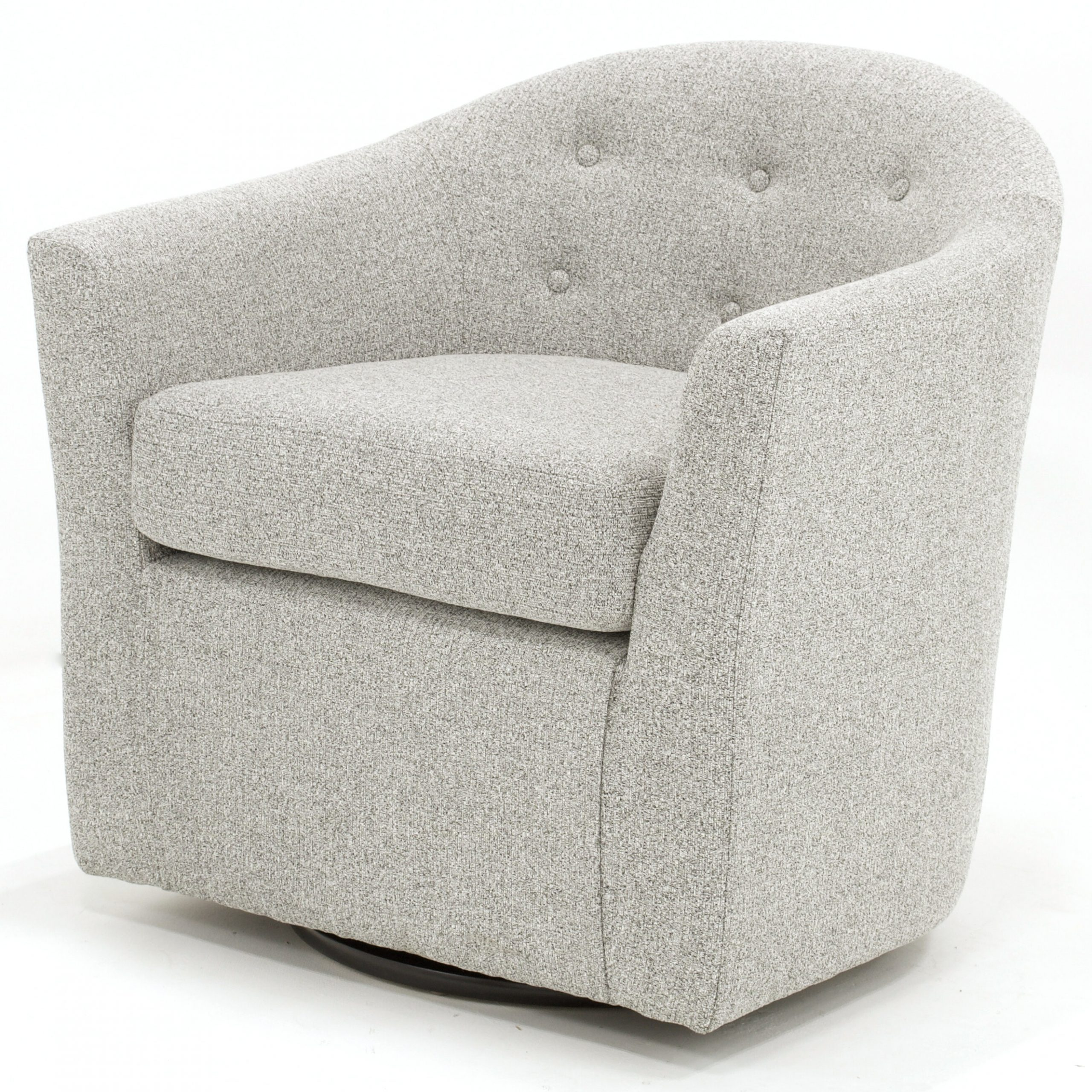 Danow Polyester Barrel Chairs Pertaining To Most Recently Released Aryion Swivel Barrel Chair (View 14 of 20)