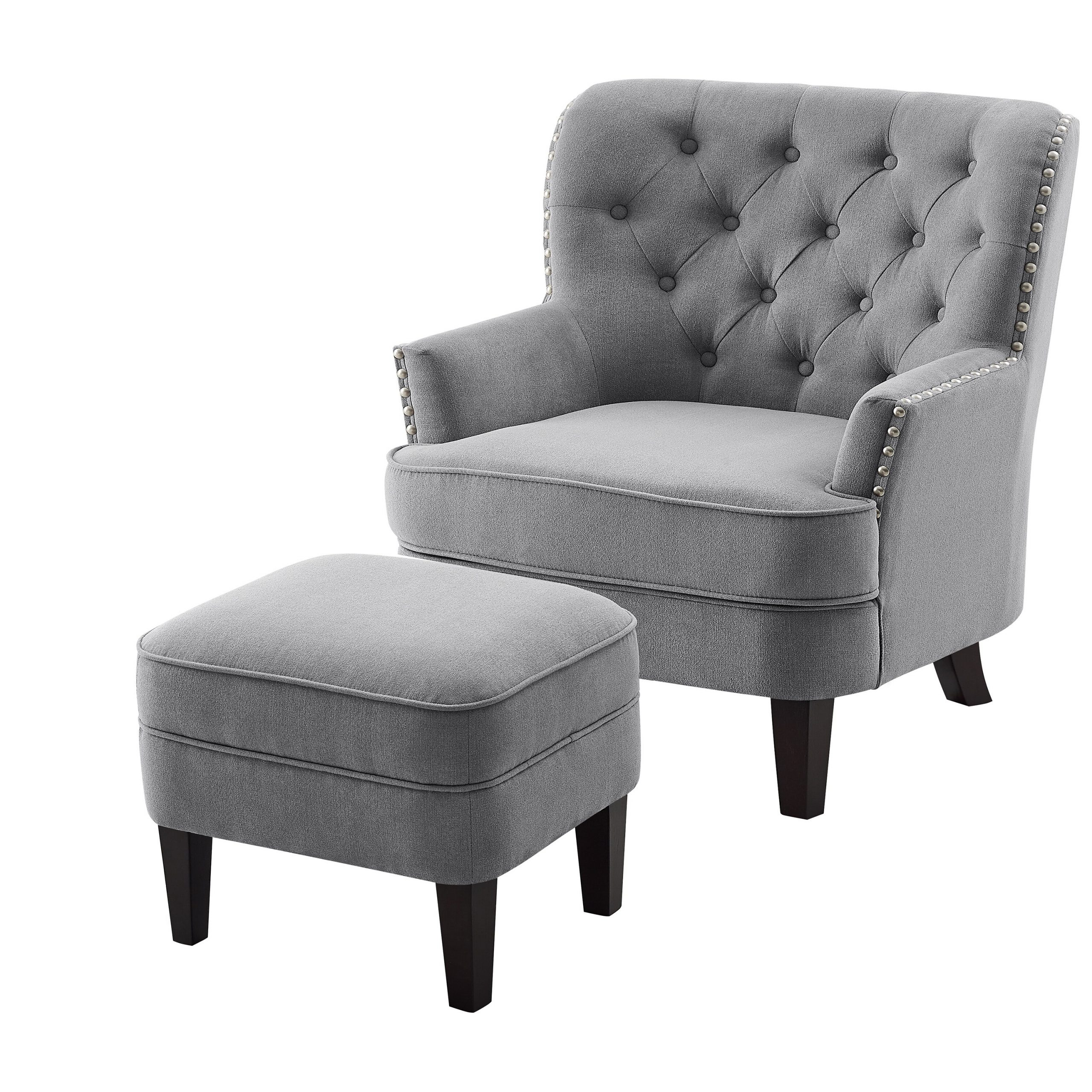 Dark Gray Linen Accent Chairs You'll Love In (View 9 of 20)