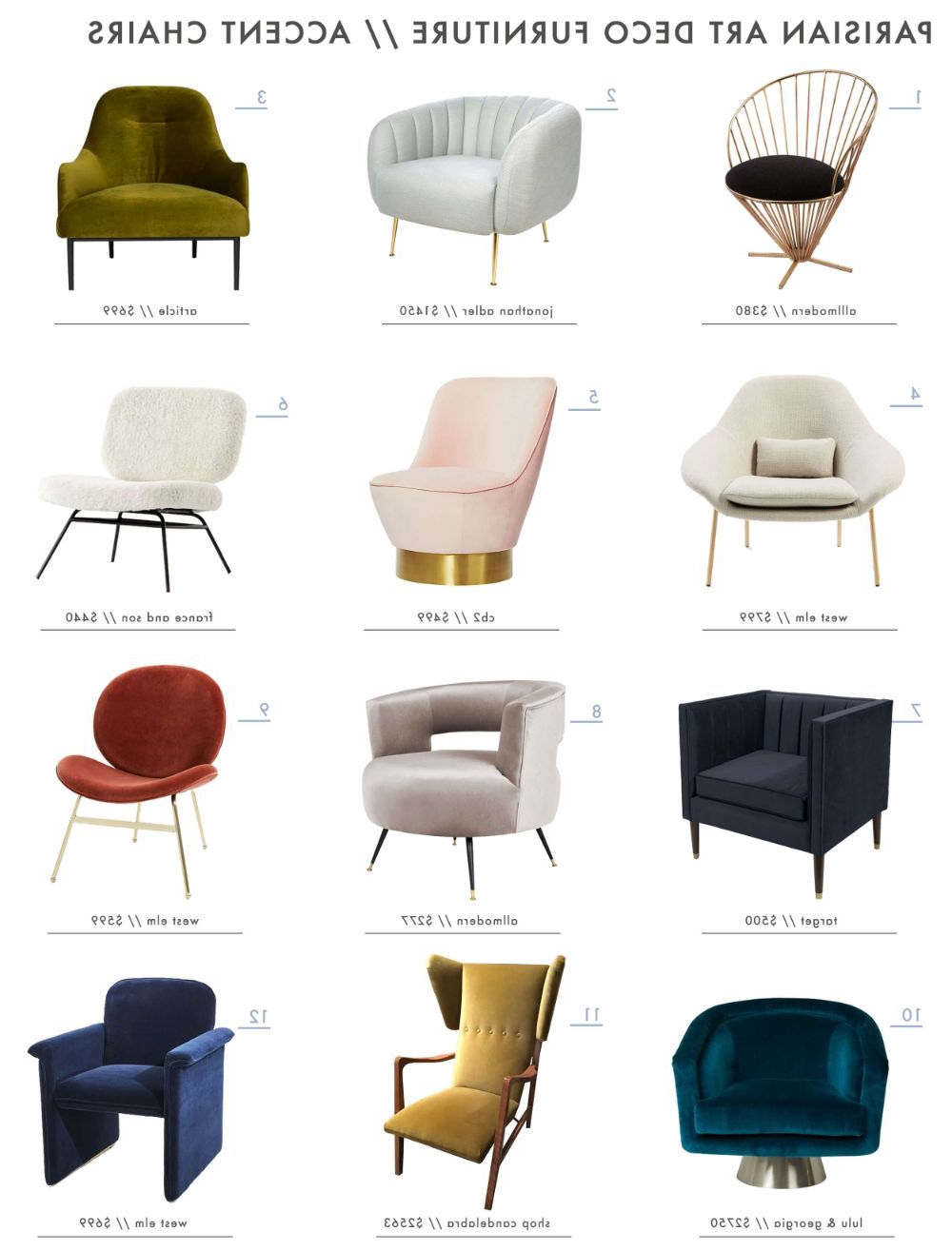 Deco Art Deco Furniture Decor Room Art Deco Armchairs For Trendy Reynolds Armchairs (View 12 of 20)
