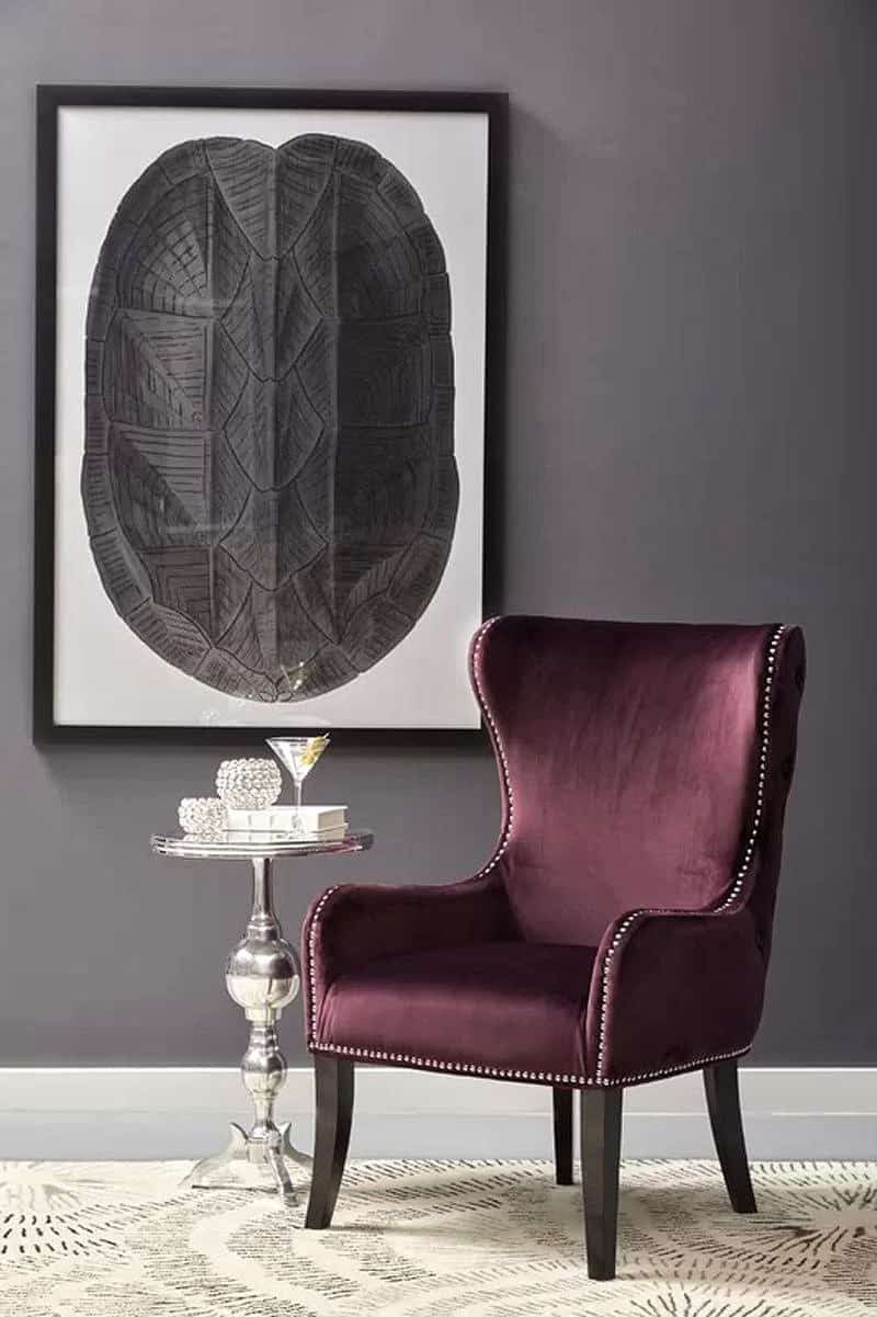 Décor Outline Pertaining To Fashionable Saige Wingback Chairs (View 7 of 20)
