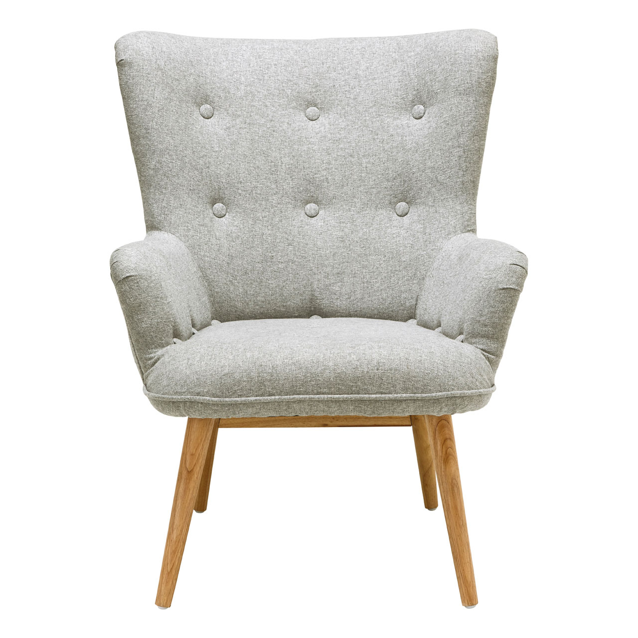 Details About Bergen Armchair Grey Polyester Natural Wood Legs Sofa Lounge Chair Furniture Within Best And Newest Leia Polyester Armchairs (View 15 of 20)