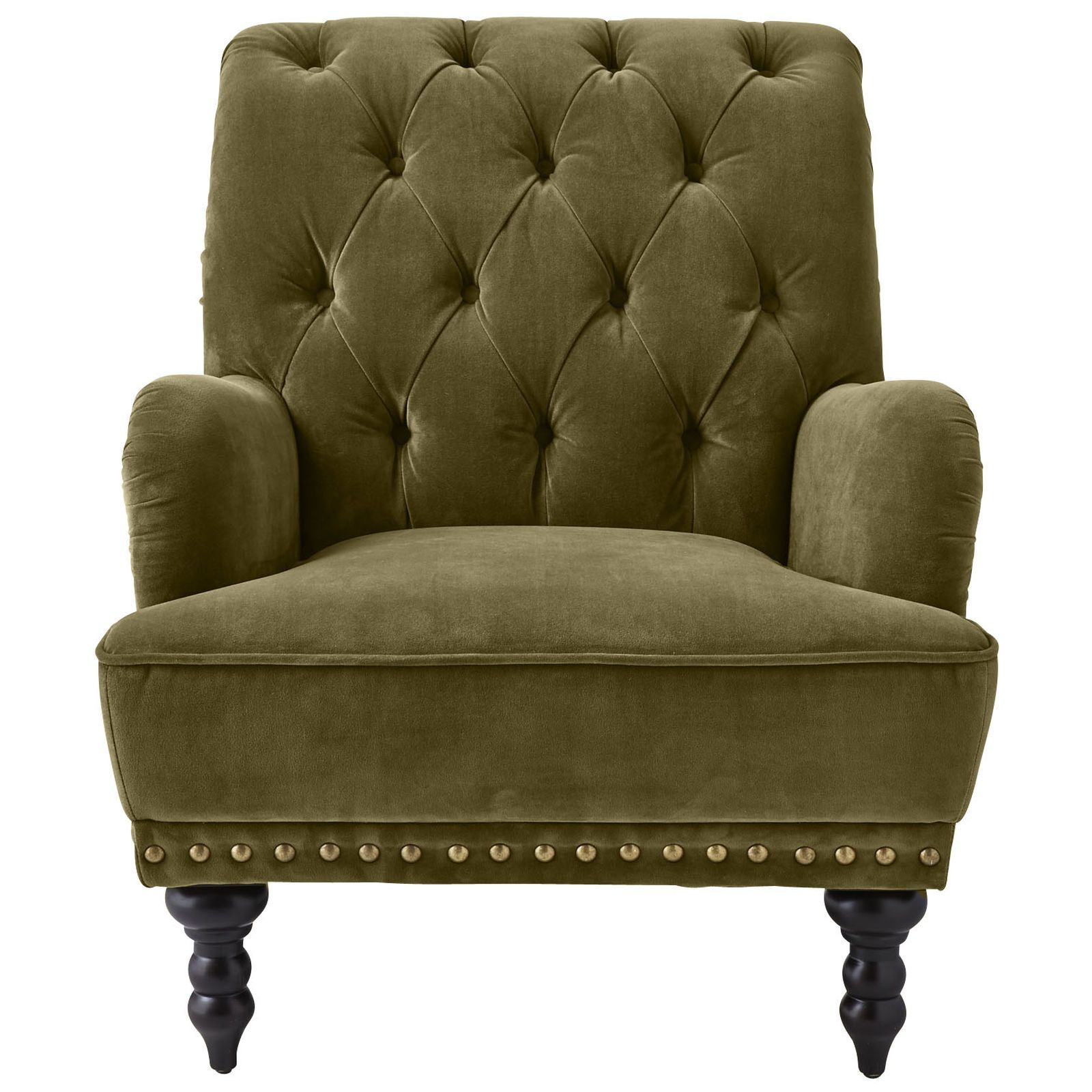 Didonato Tufted Velvet Armchairs With Regard To Fashionable Chas Armchair – Olive (View 14 of 20)