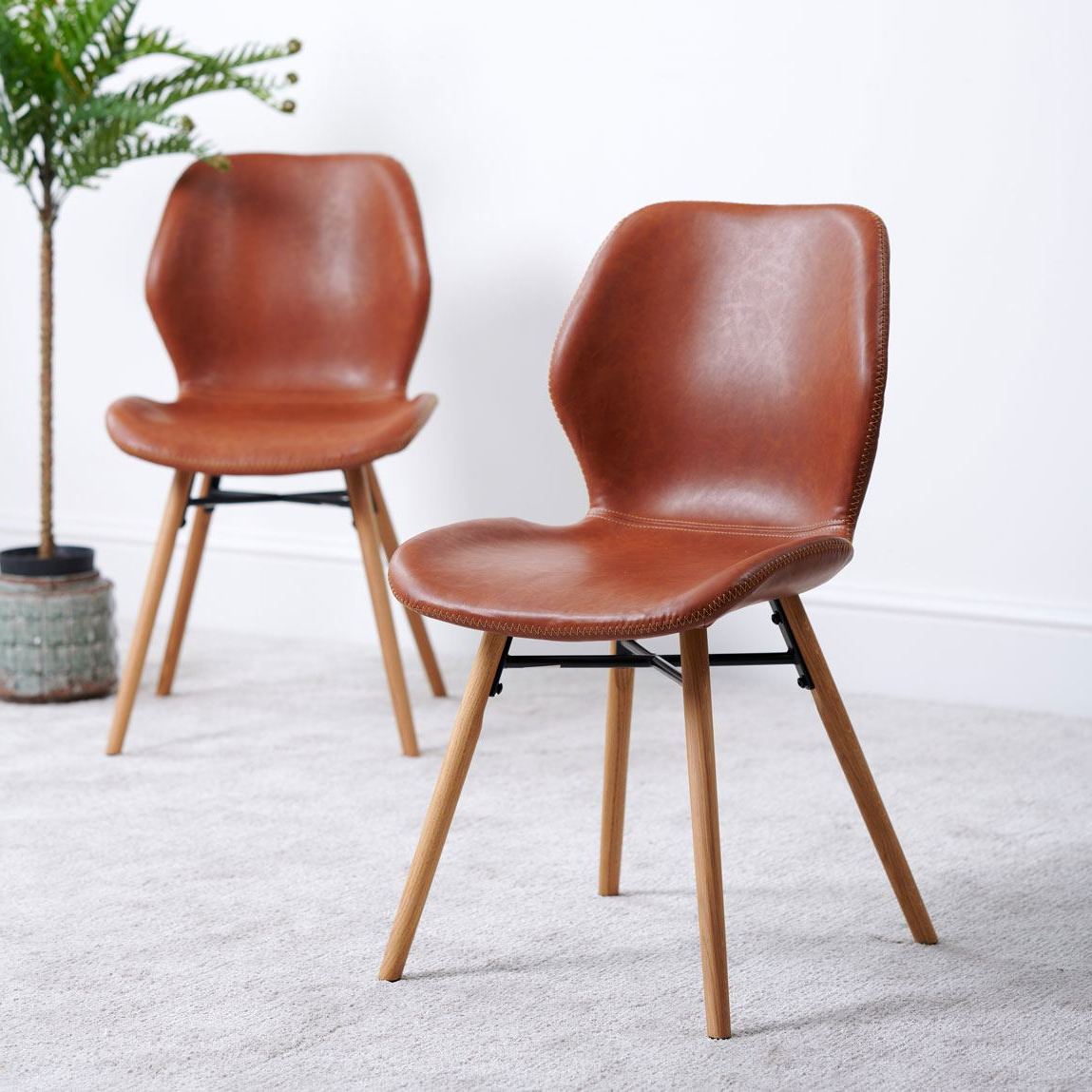 Durada Set Of 2 Dining Chairs – Tan Intended For Famous Dorcaster Barrel Chairs (View 18 of 20)