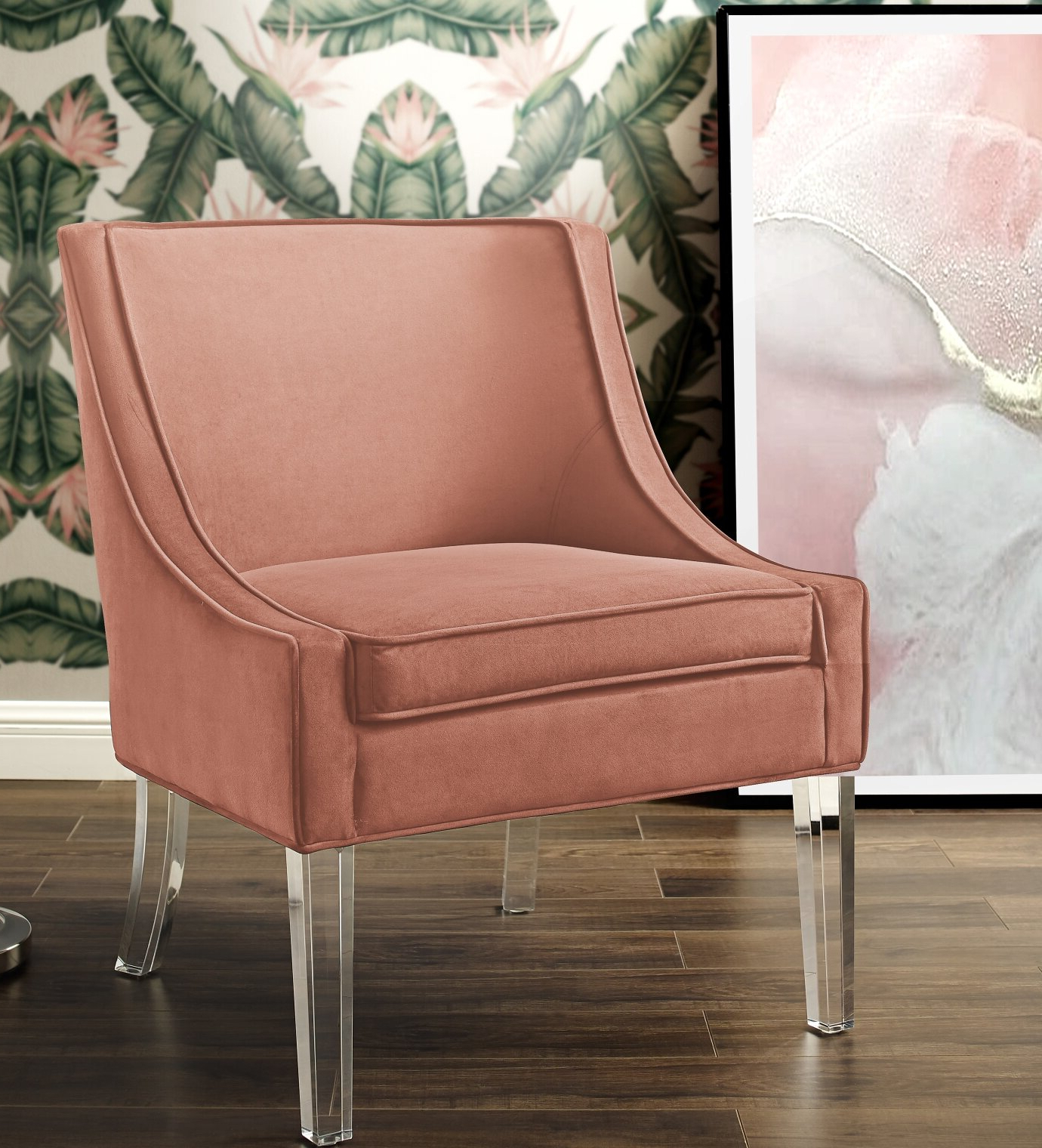 Easterling Velvet Slipper Chairs Intended For Favorite Modern & Contemporary Slipper Accent Chairs You'll Love In (View 10 of 20)