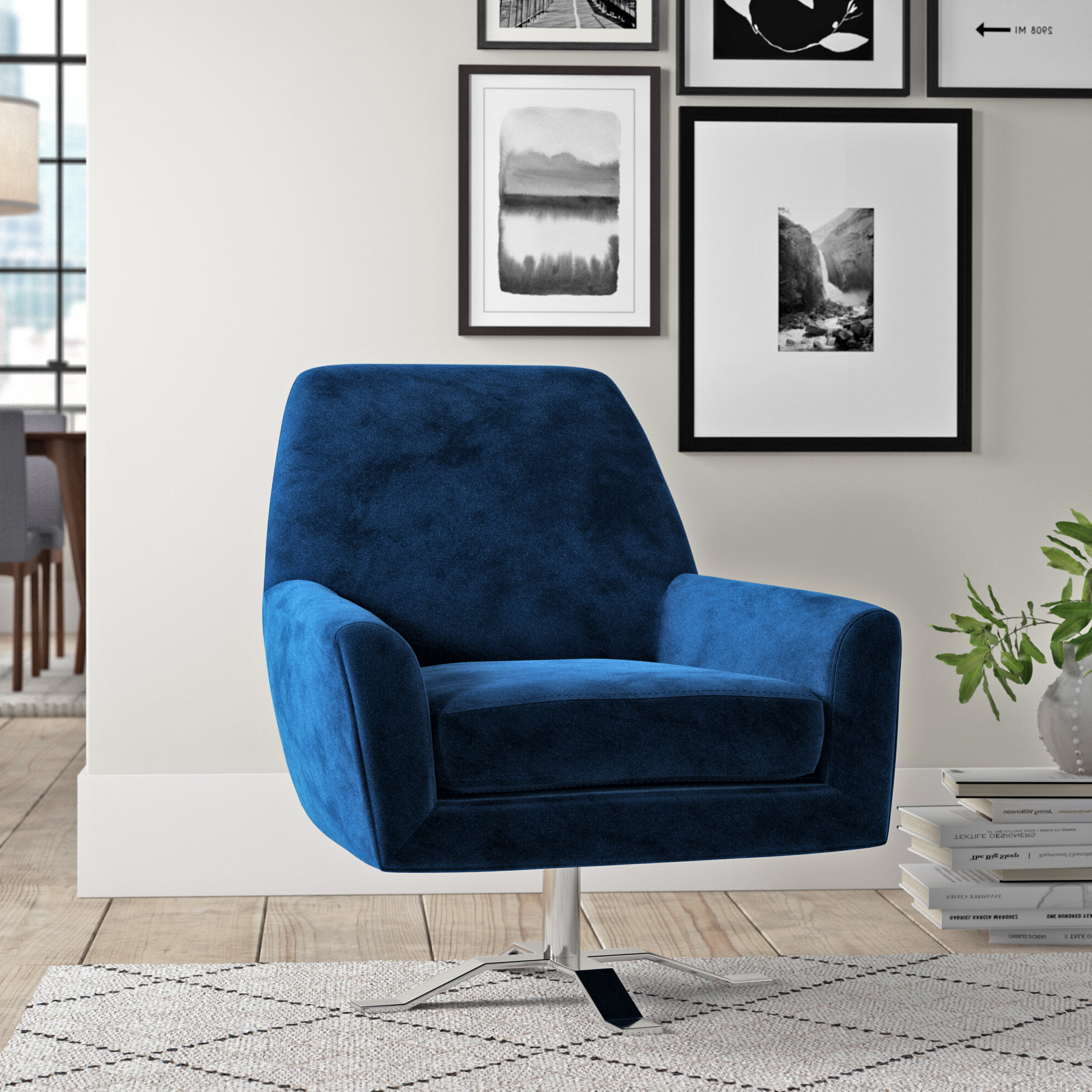 """Edmund Swivel 22"""" Armchair With Well Liked Esmund Side Chairs (set Of 2) (View 20 of 20)"""