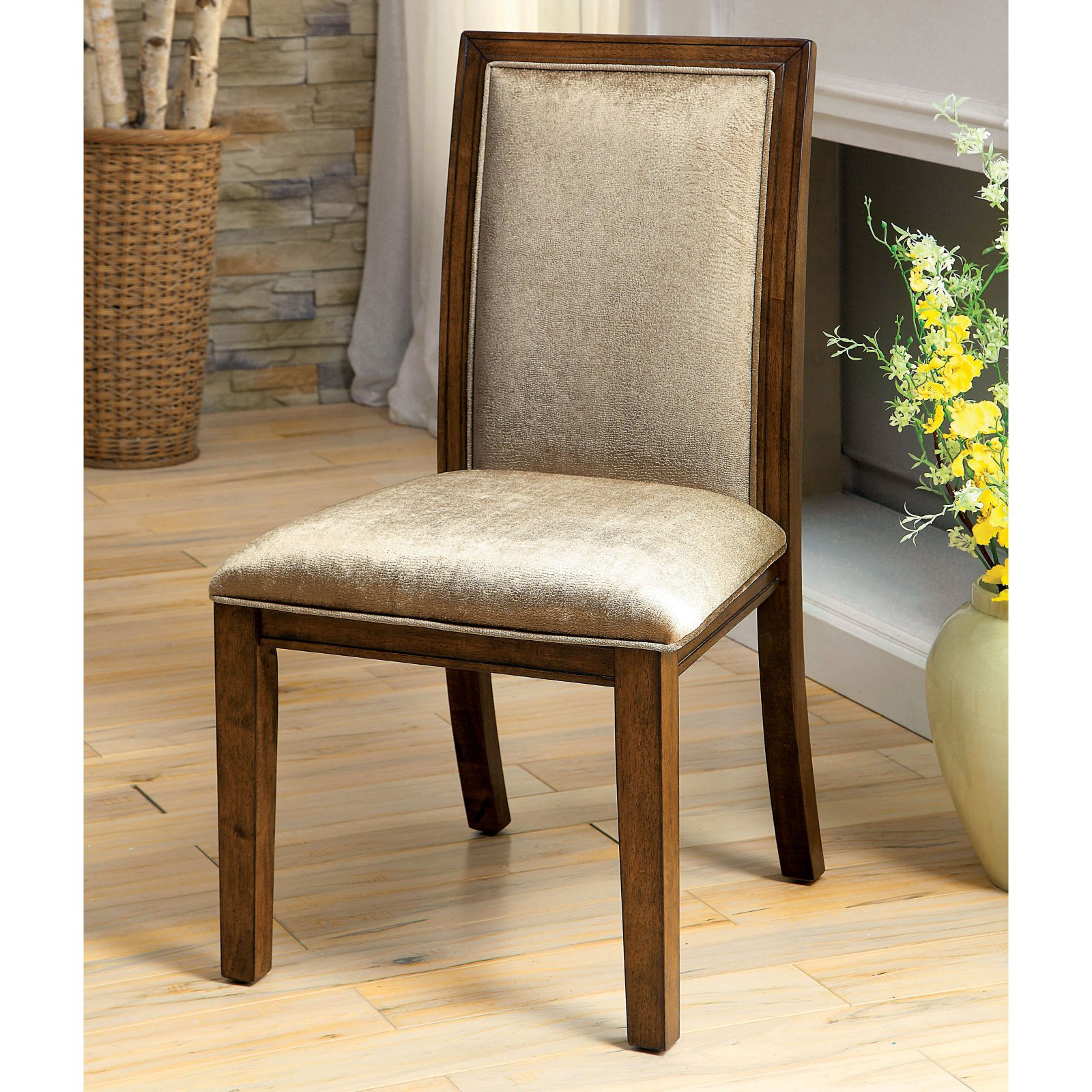 Erasmus Side Chairs For 2019 Furniture Of America Erasmus Dining Chair – Set Of 2 – Walmart (View 10 of 20)