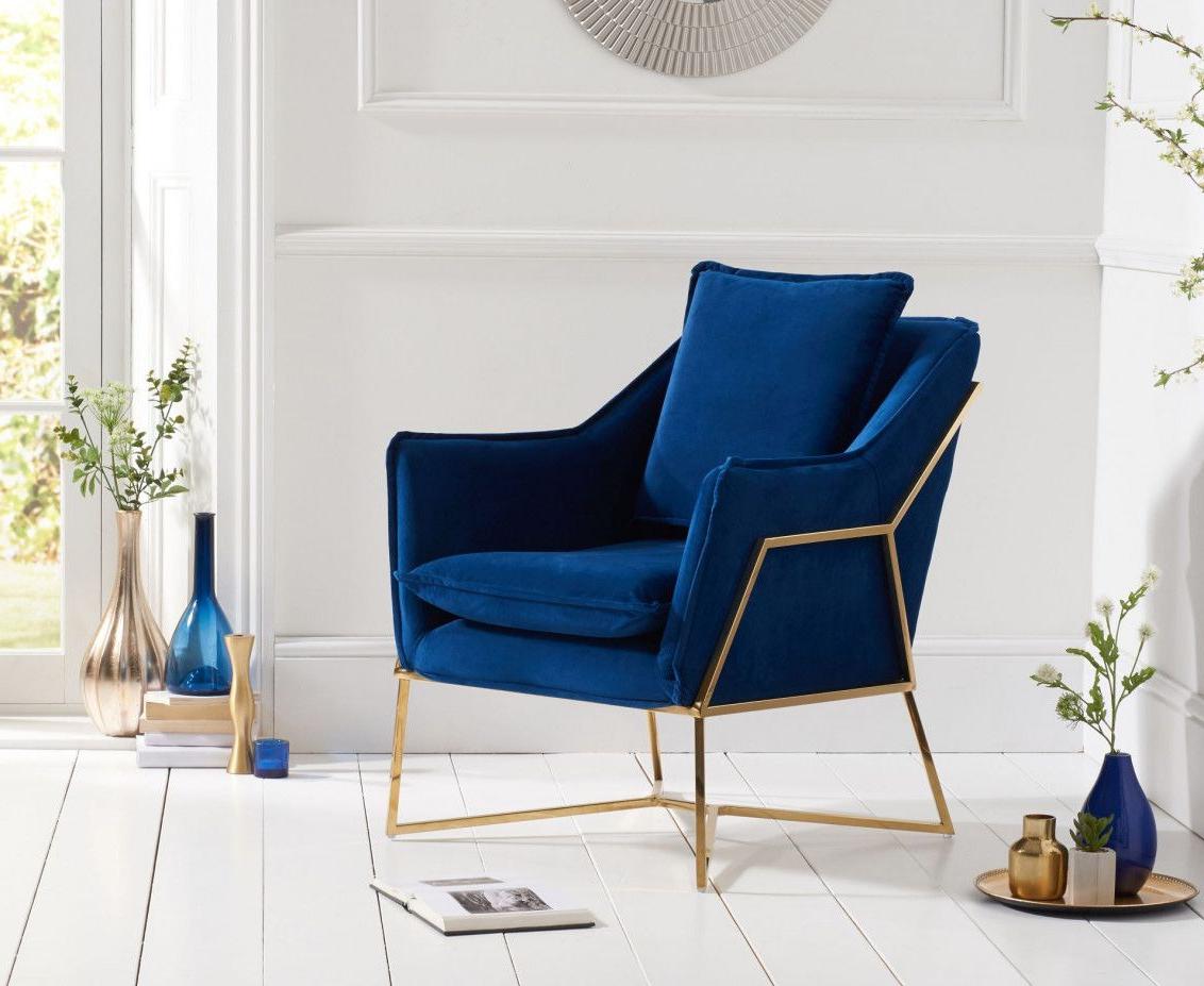 Erasmus Velvet Side Chairs (set Of 2) Intended For 2019 Lillia Blue Velvet Accent Chair (View 19 of 20)