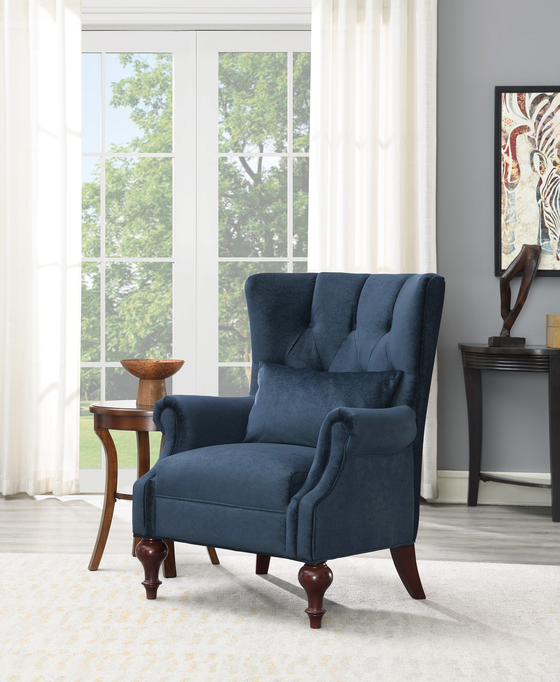 Escoto Wingback Chair In Trendy Bouck Wingback Chairs (View 19 of 20)