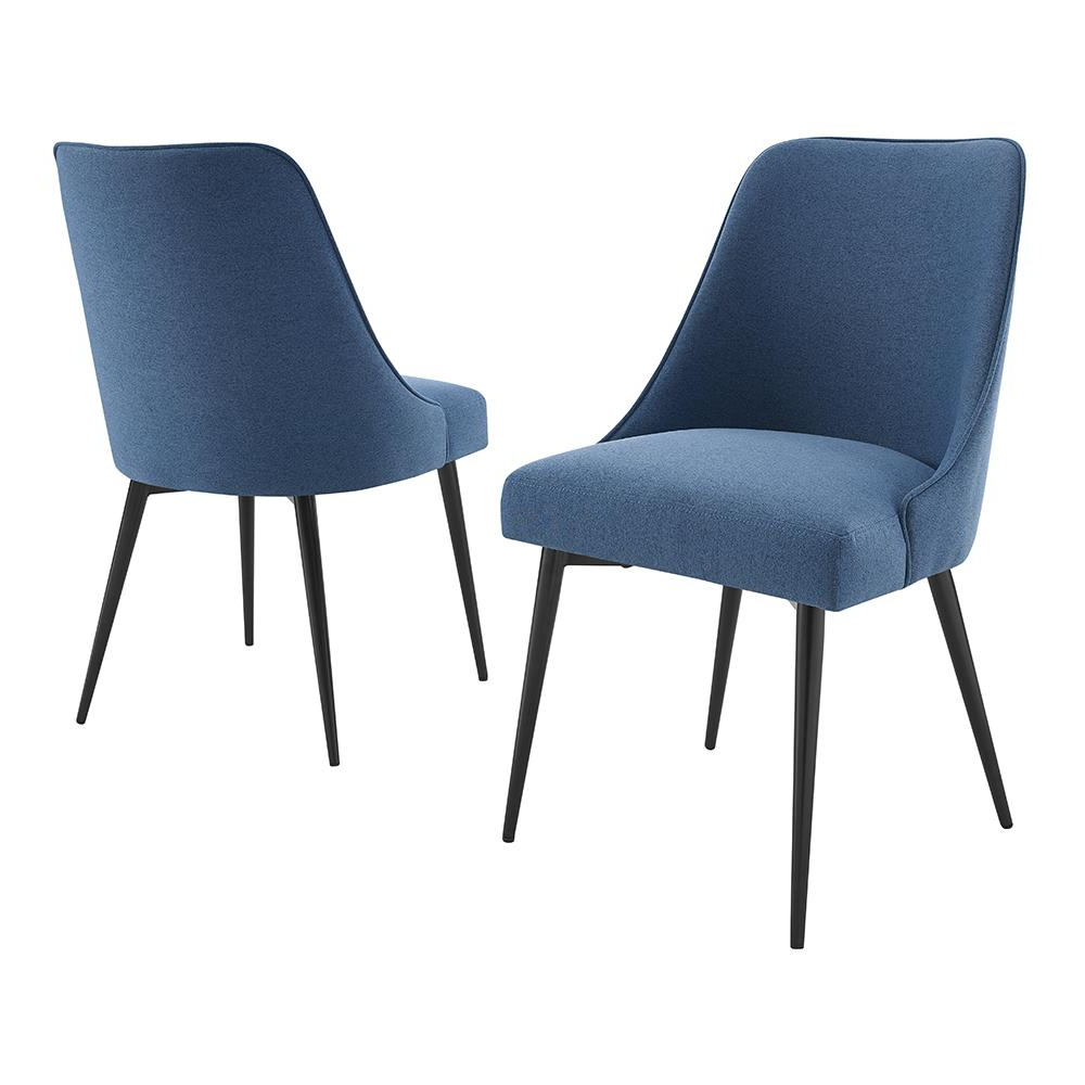 Esmund Side Chairs (set Of 2) In Newest Steve Silver Colfax Blue Side Chair (set Of 2) Cf450sn – The Home Depot (View 3 of 20)