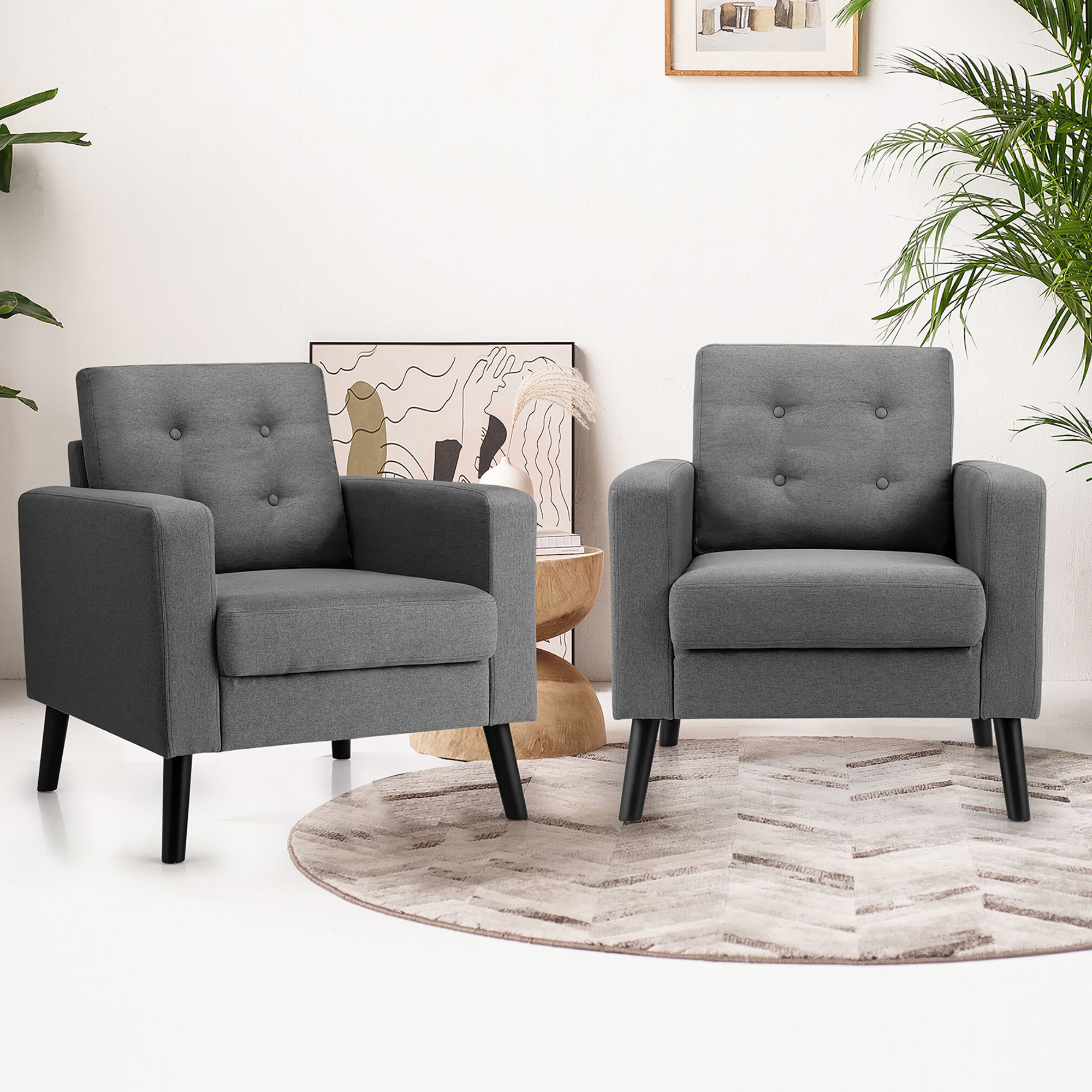Famous Bethine Polyester Armchairs (set Of 2) Intended For Arm Modern & Contemporary Accent Chairs You'll Love In (View 9 of 20)