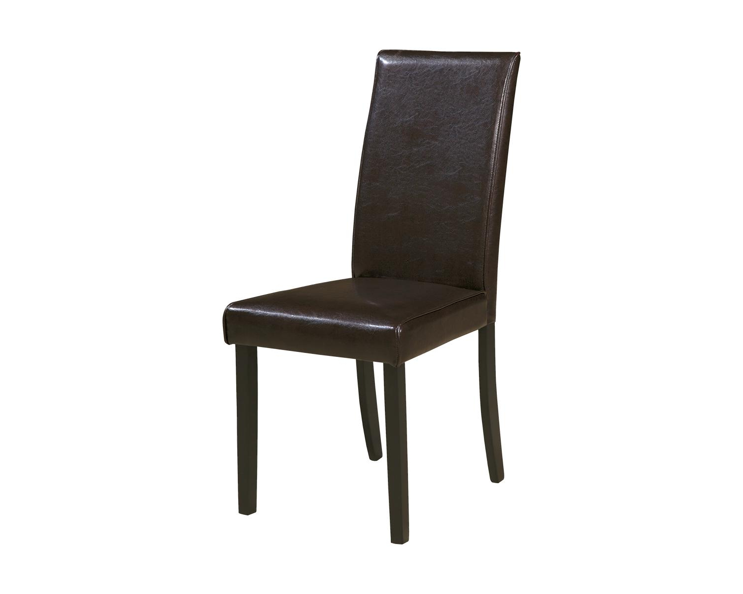 Famous Danny Barrel Chairs (set Of 2) Regarding Signature Designashley Kimonte Dining Side Chairs Set Of 2 Dark Brown (View 20 of 20)