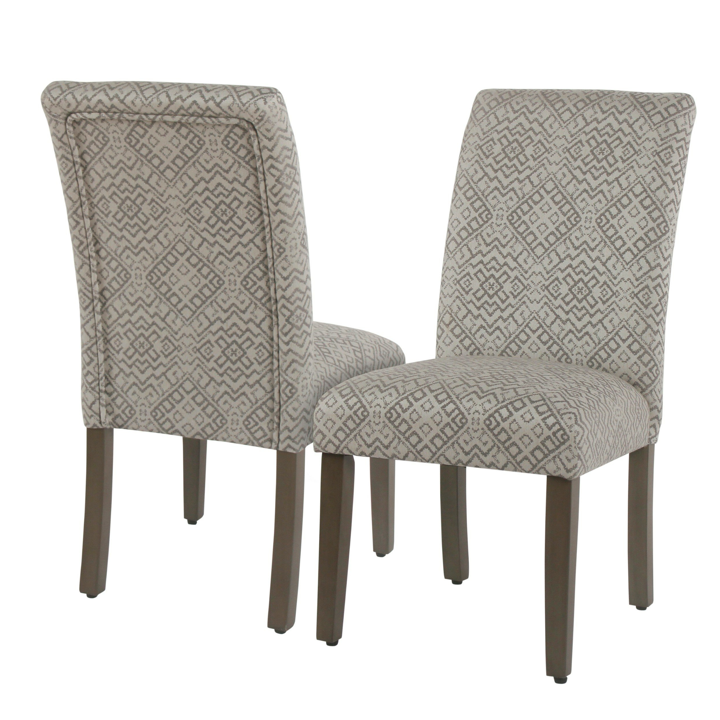 Famous Freetown Upholstered Dining Chair Inside Aime Upholstered Parsons Chairs In Beige (View 7 of 20)