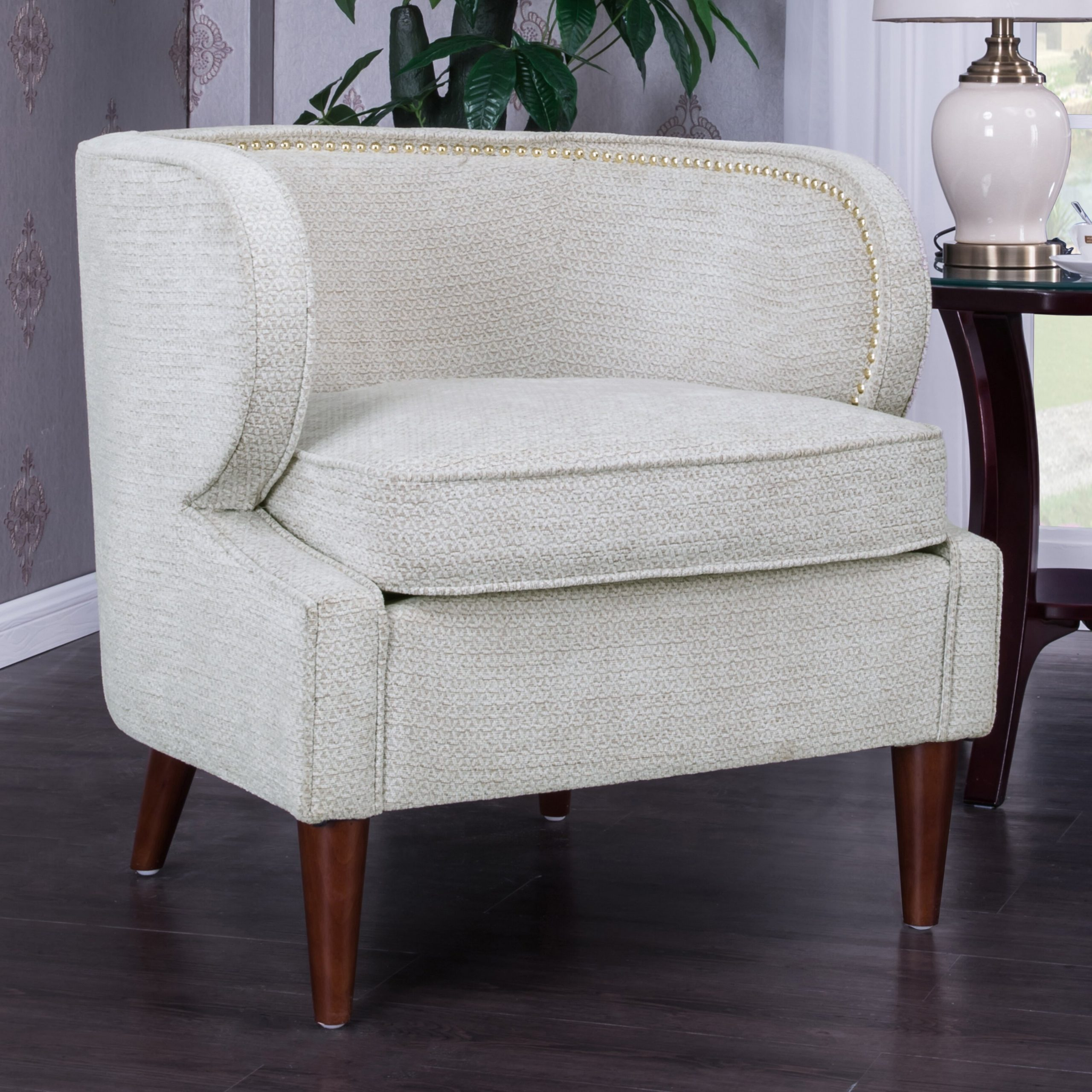 Famous Landisville Barrel Chair Intended For Liston Faux Leather Barrel Chairs (View 10 of 20)