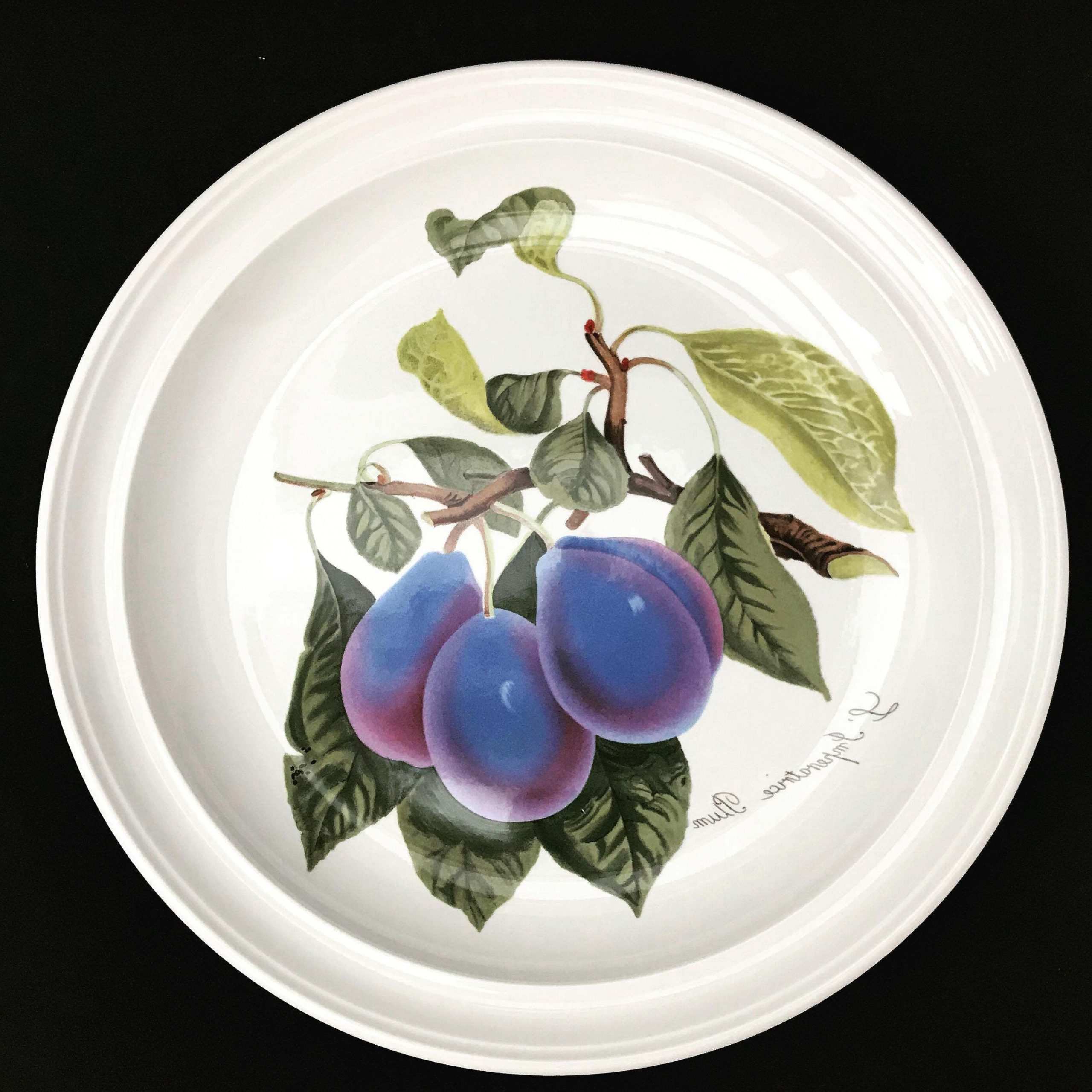 Famous Portmeirion Pomona Vintage Dinner Plate Or Cake Plate Plum Cherries Grapes  Gooseberries Gift Collector Service Plate Grimwoods Royal George Intended For Portmeirion Armchairs (View 17 of 20)