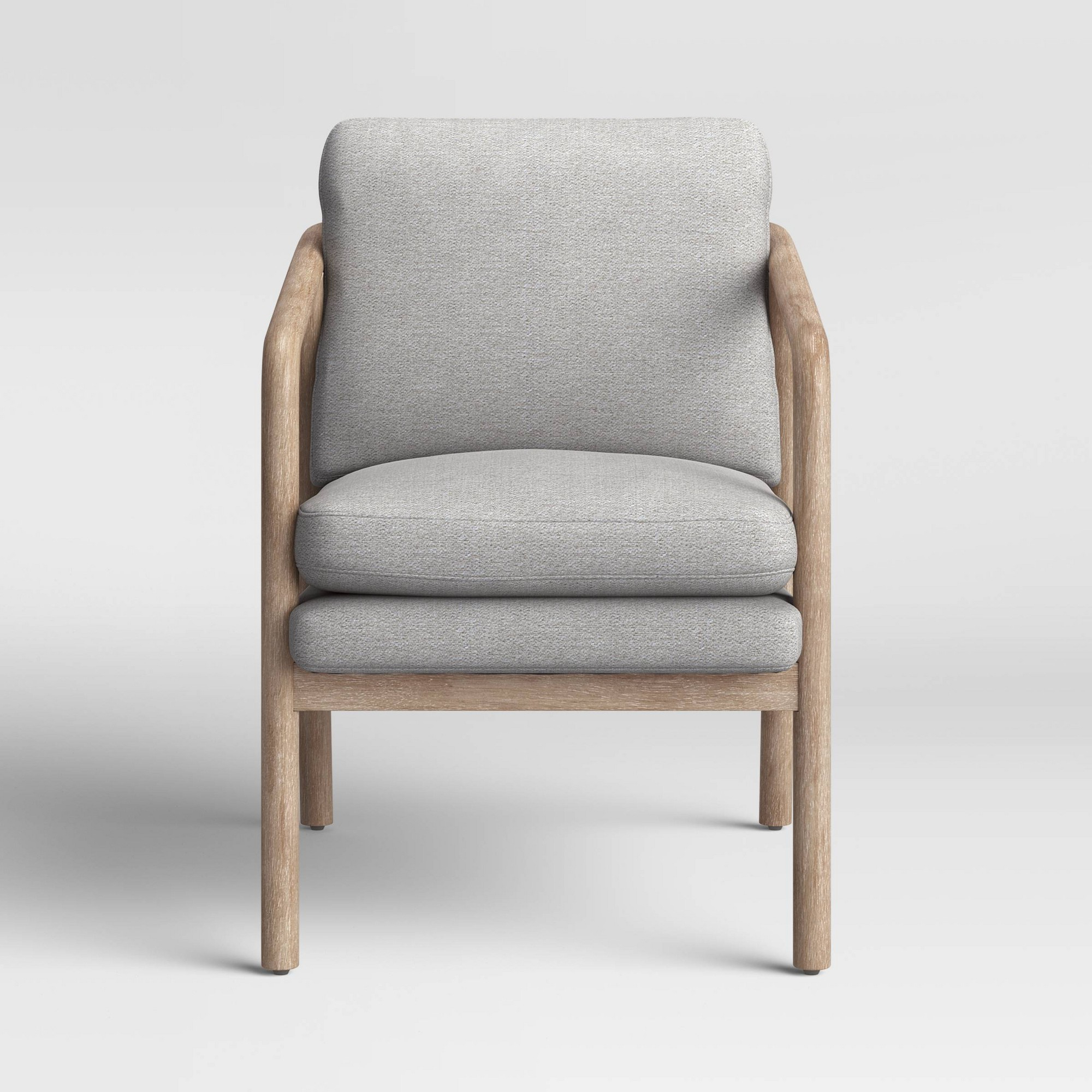 Famous Tufeld Wood Arm Chair Gray – Project 62 Throughout Biggerstaff Polyester Blend Armchairs (View 6 of 20)