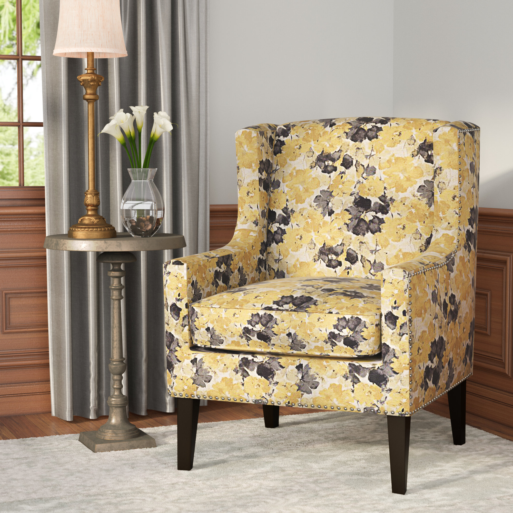 Fashionable Chagnon Wingback Chairs Inside Yellow Charlton Home® Accent Chairs You'll Love In (View 8 of 20)