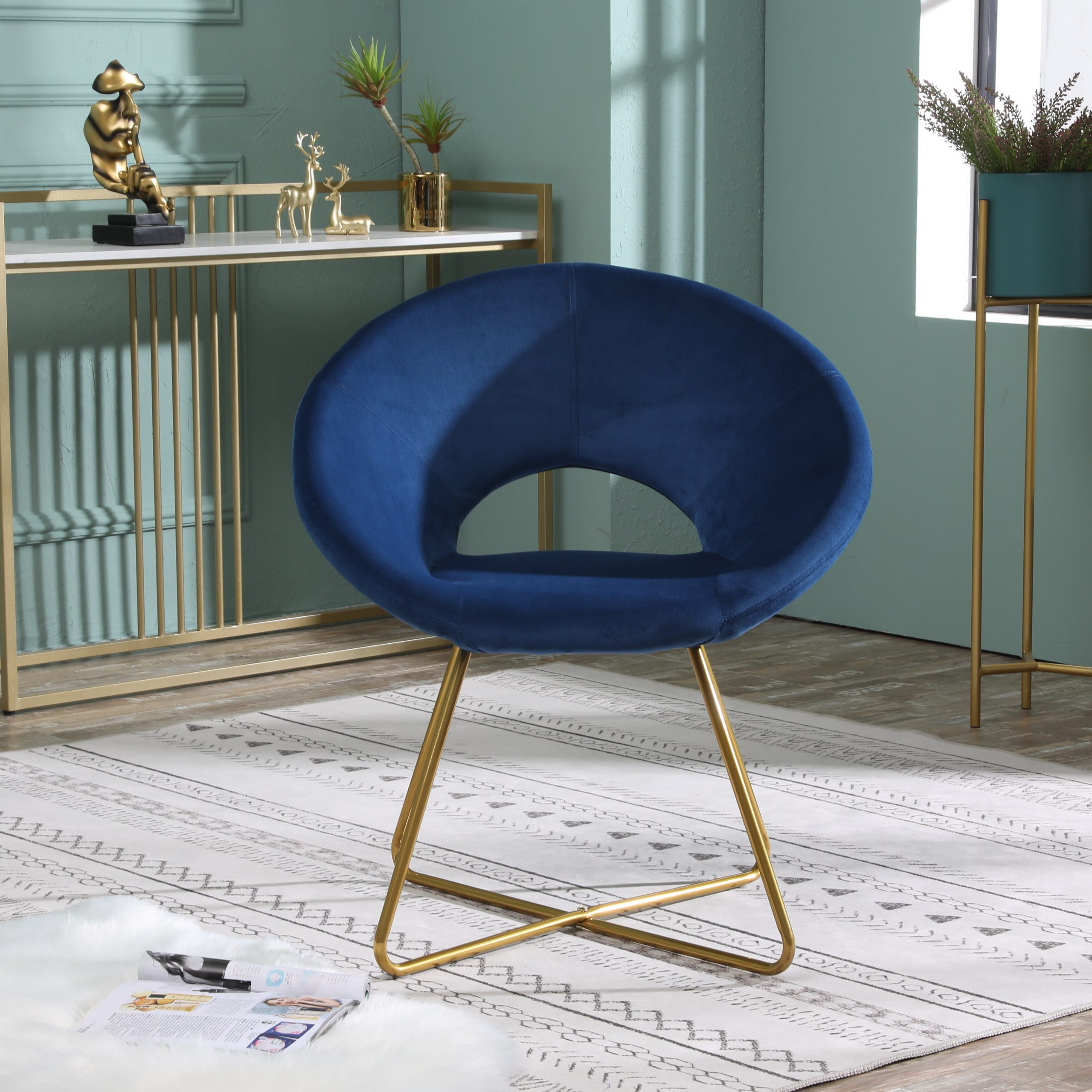 """Fashionable Everly Quinn Grinnell Silky Velvet 15"""" Papasan Chair With Grinnell Silky Velvet Papasan Chairs (View 2 of 20)"""