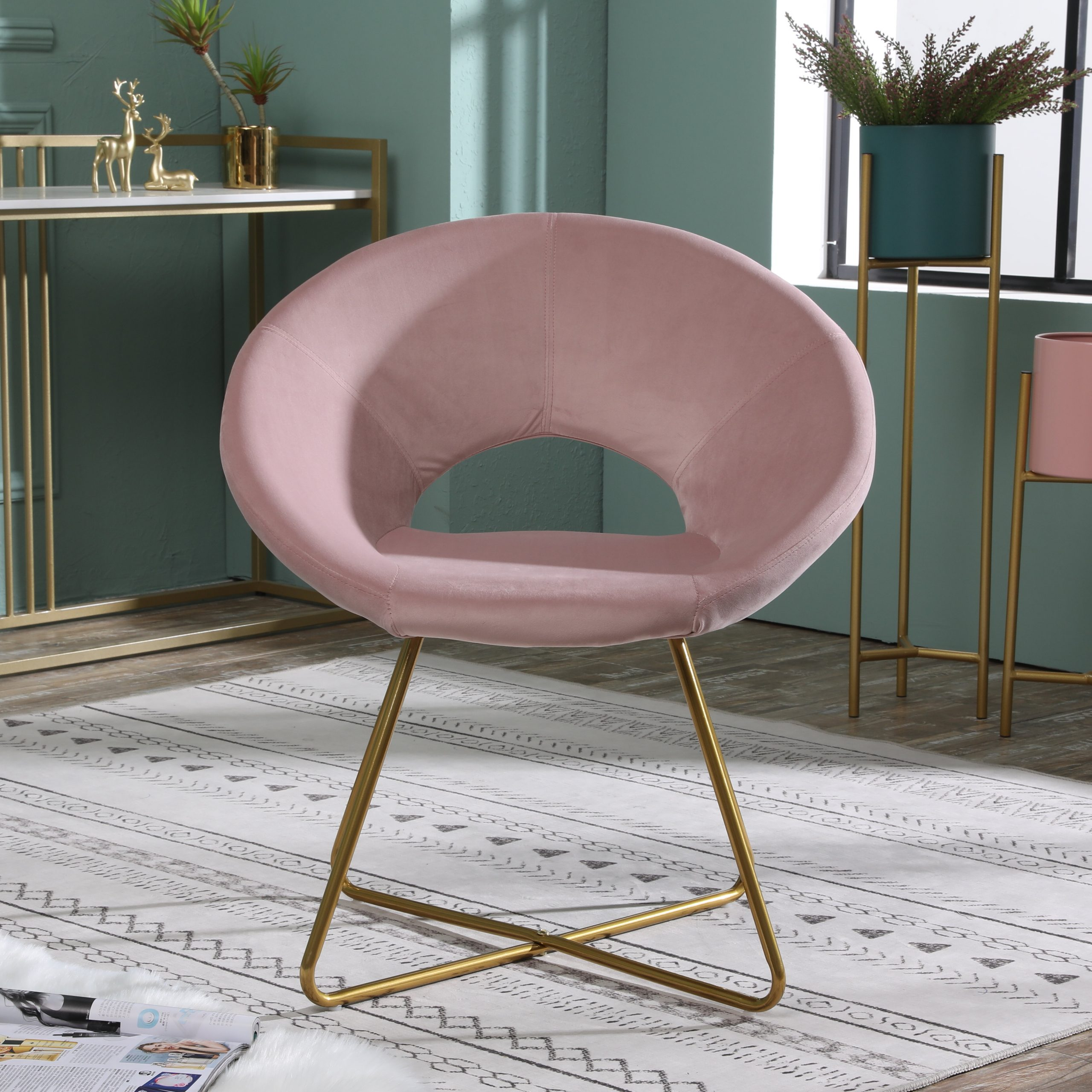 Featured Photo of Grinnell Silky Velvet Papasan Chairs