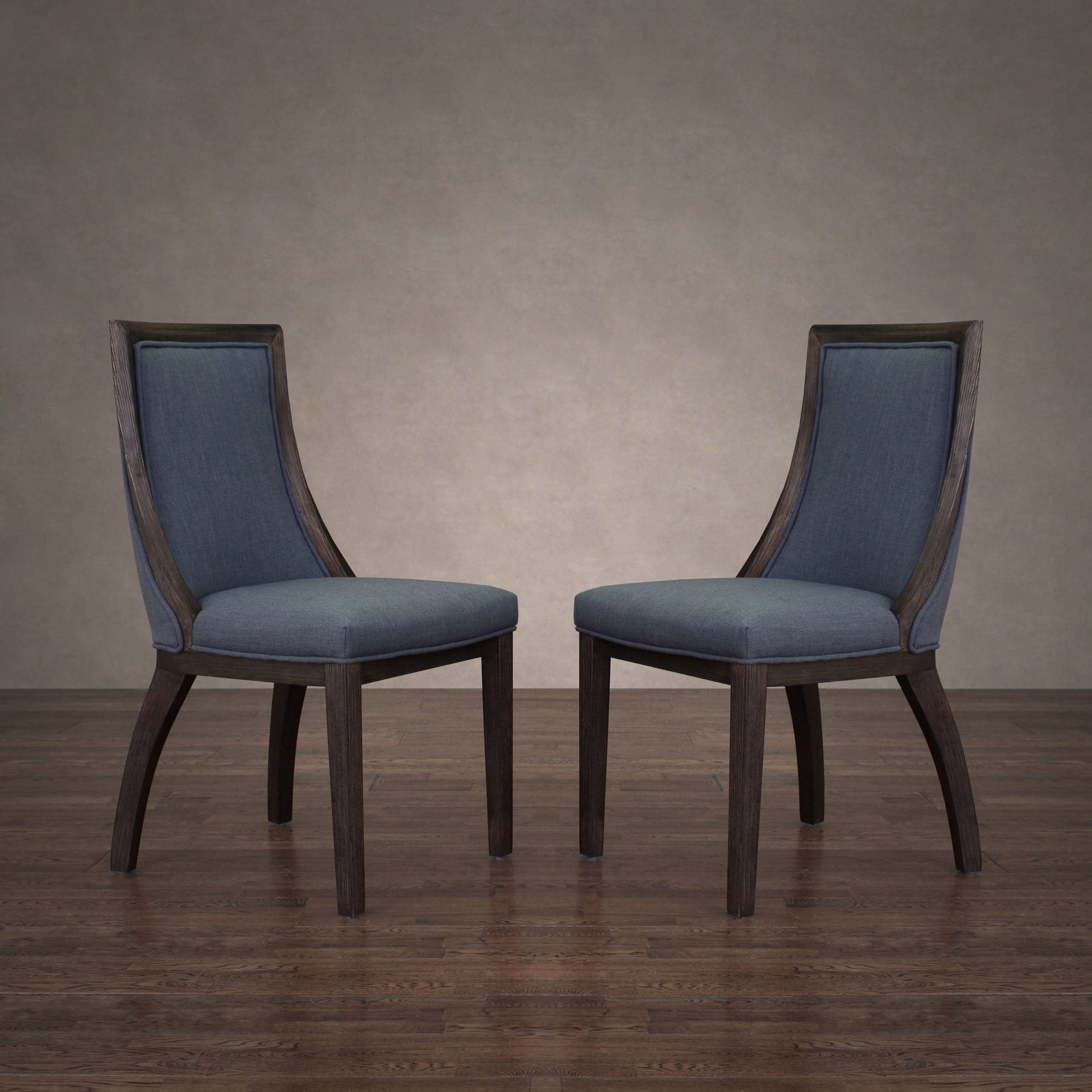 Fashionable Madison Avenue Tufted Cotton Upholstered Dining Chairs (set Of 2) Within The Gray Barn Park Avenue Austria Navy Linen Dining Chair (set Of 2) (View 7 of 20)