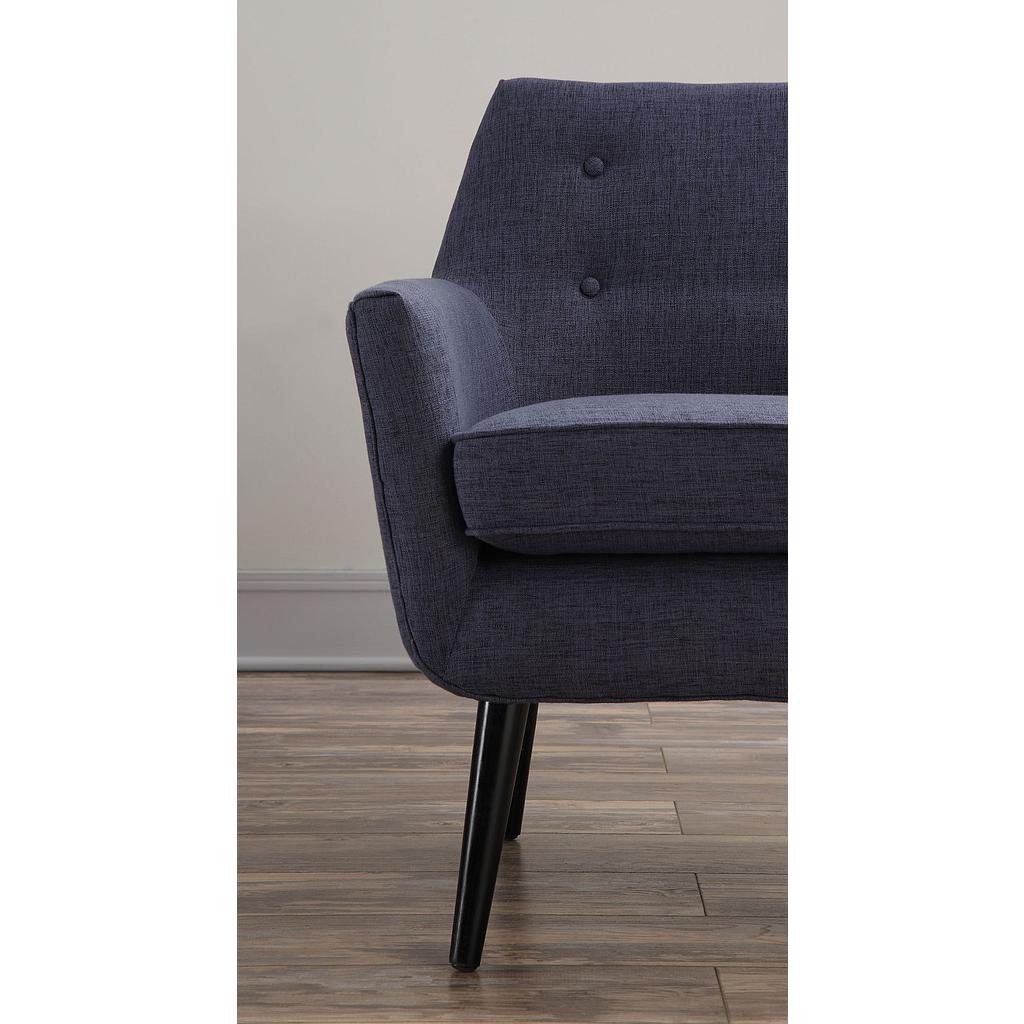 Fashionable Navin Barrel Chairs In Sadie Navy Linen Chair (View 19 of 20)