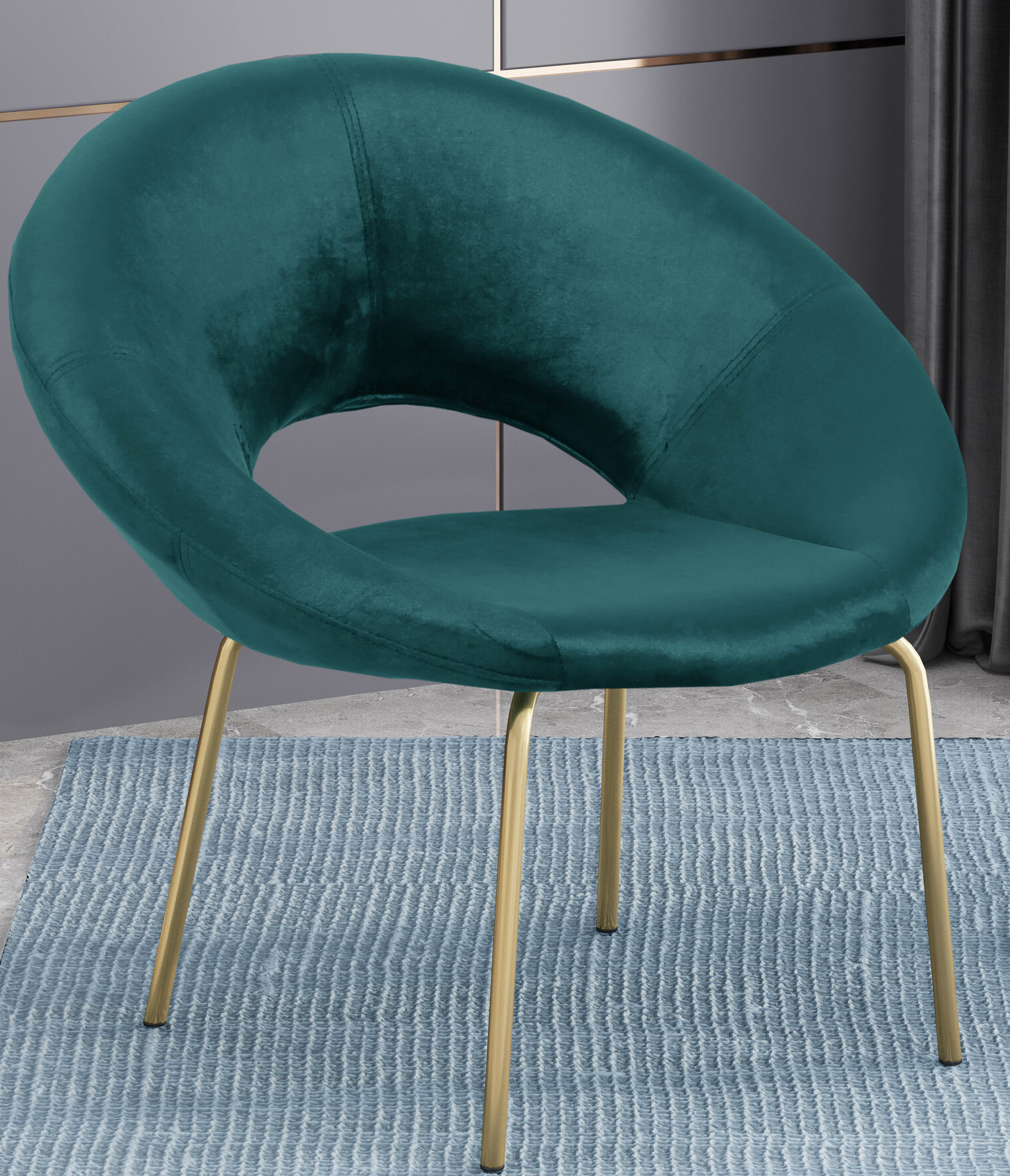 Fashionable Palmer Modern Glam Papasan Chair With Regard To Grinnell Silky Velvet Papasan Chairs (View 19 of 20)